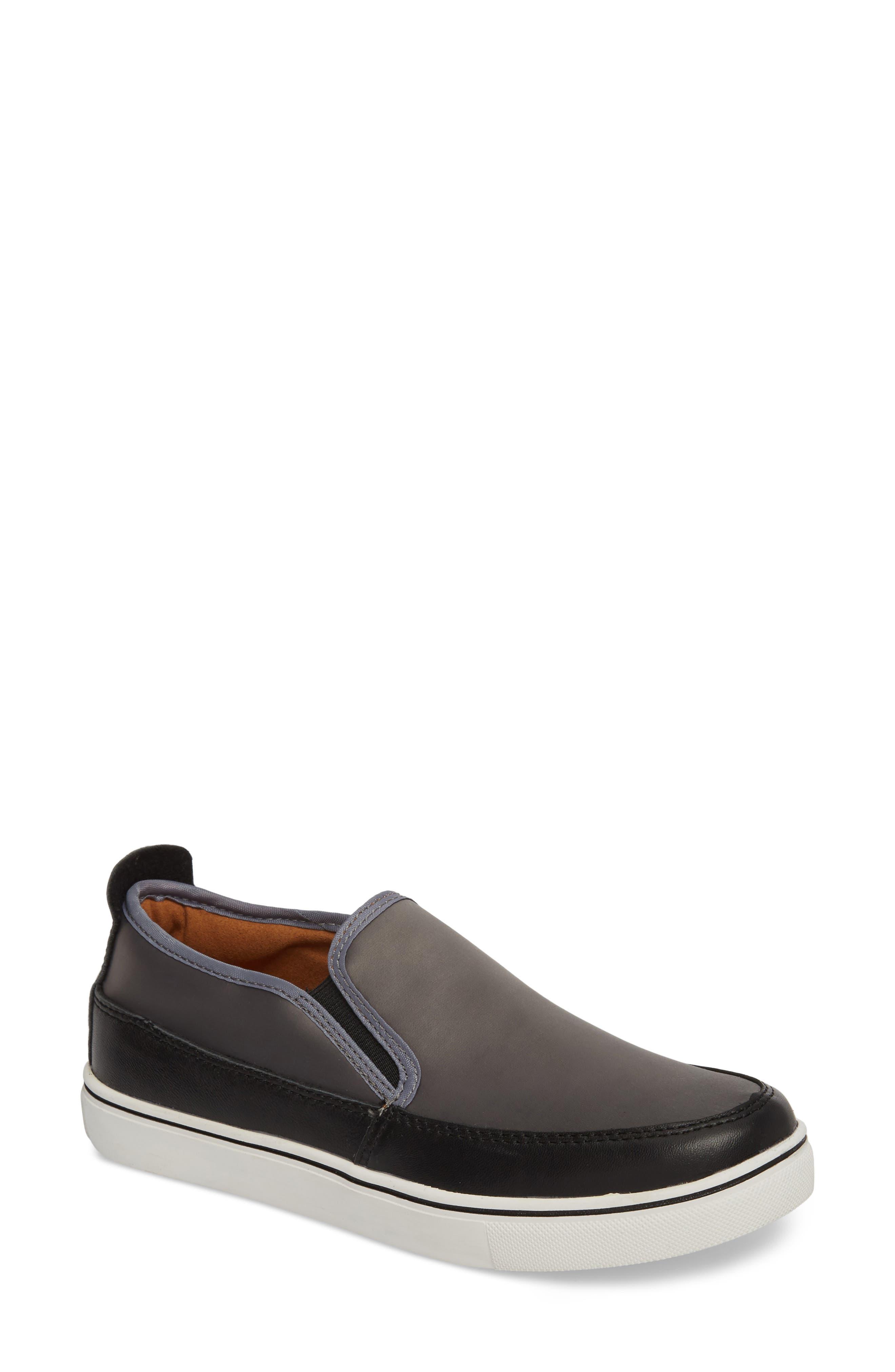 Double Gore Sneaker,                             Main thumbnail 1, color,                             GREY SATIN