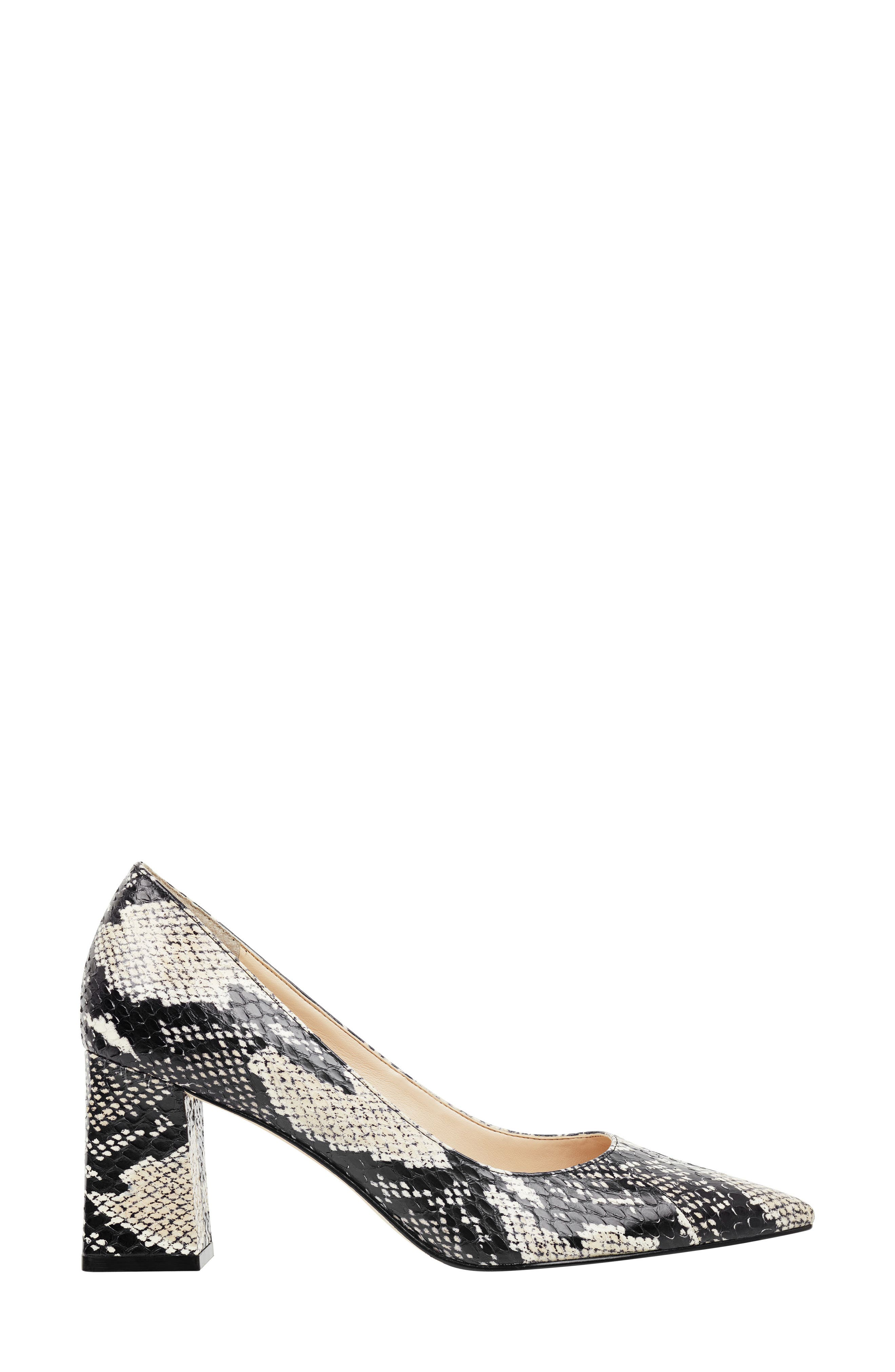 'Zala' Pump,                             Alternate thumbnail 3, color,                             BEIGE/ BLACK SNAKE PRINT