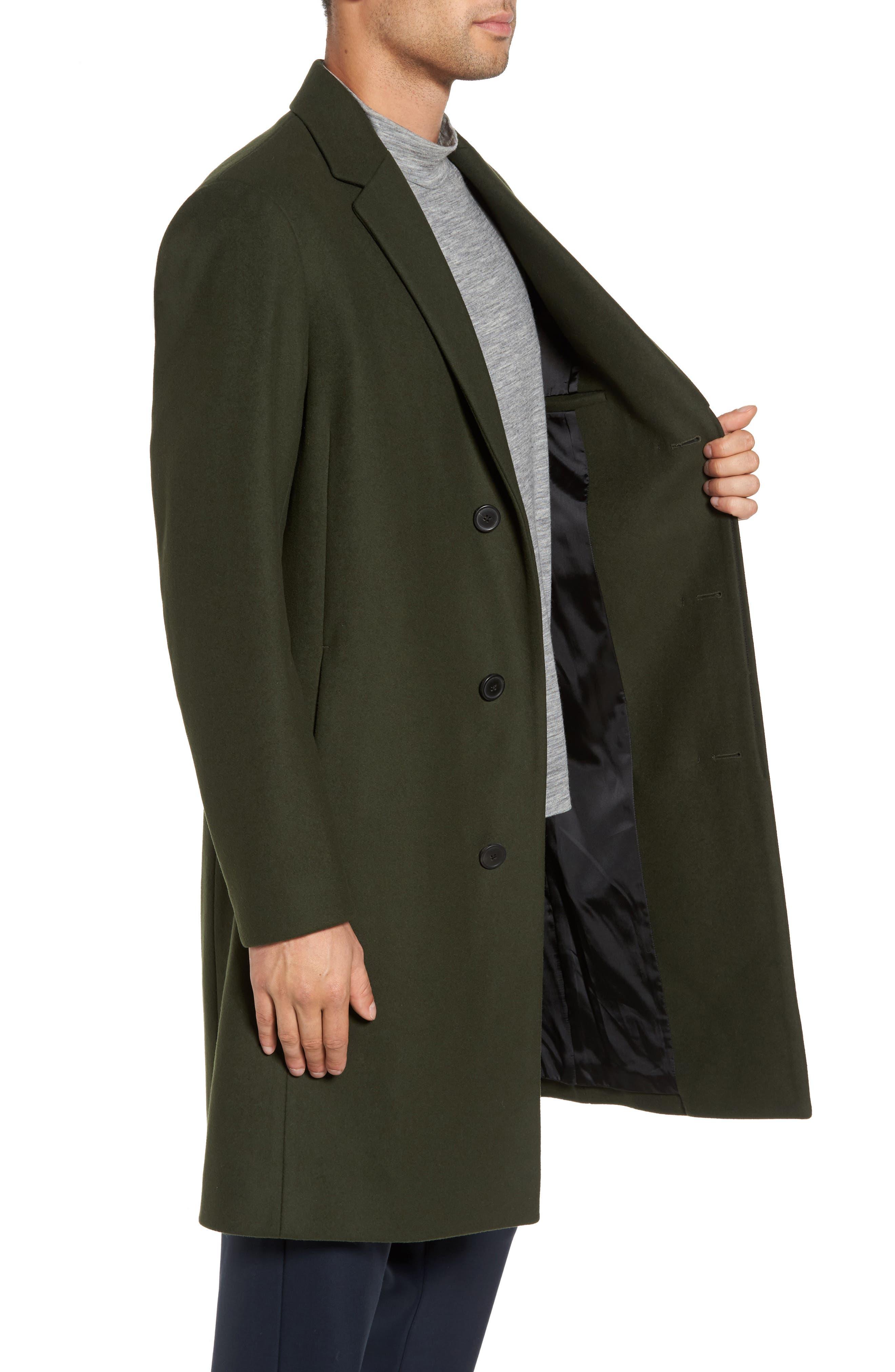 Bower Melton Wool Blend Topcoat,                             Alternate thumbnail 8, color,