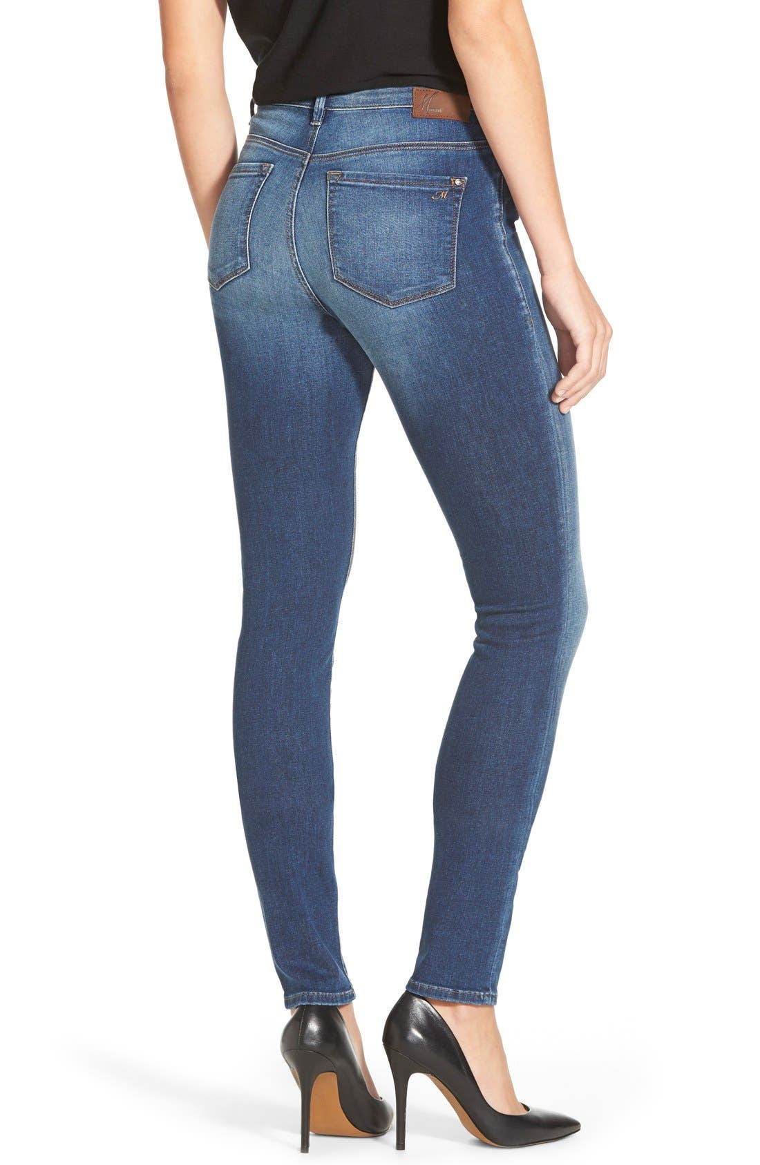 'Alissa' Skinny Jeans,                             Alternate thumbnail 4, color,                             401