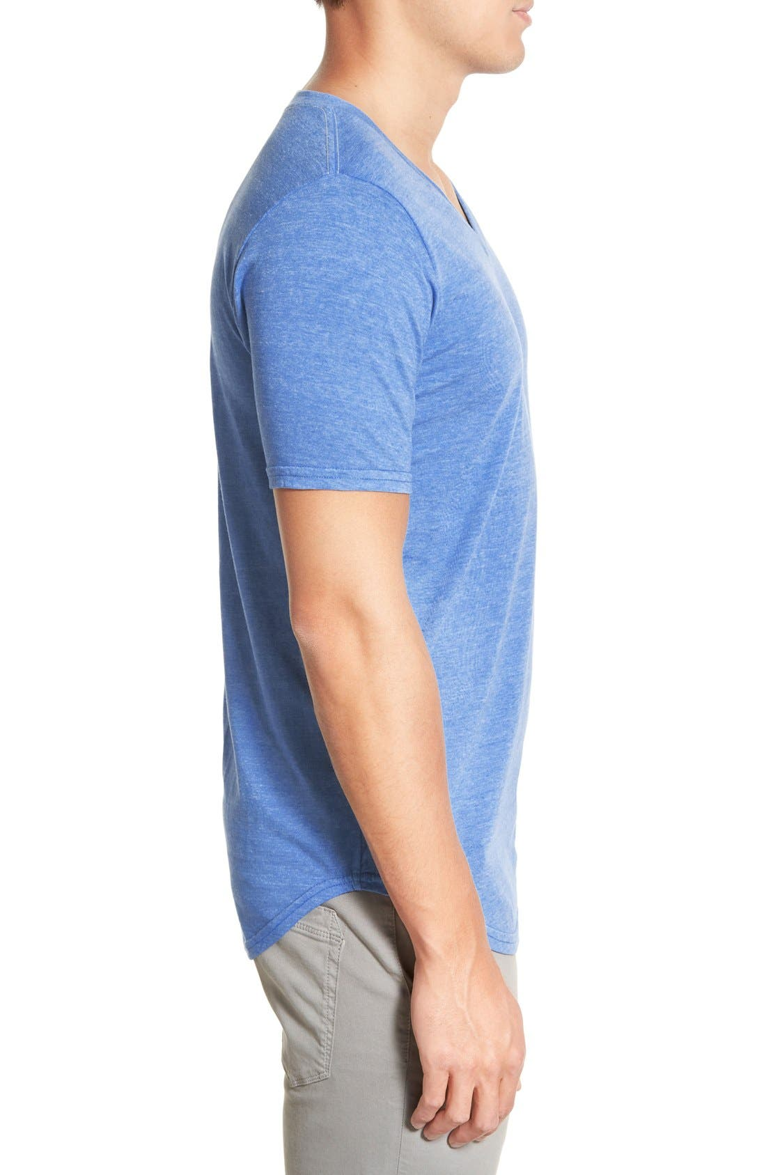 Scallop Triblend V-Neck T-Shirt,                             Alternate thumbnail 77, color,
