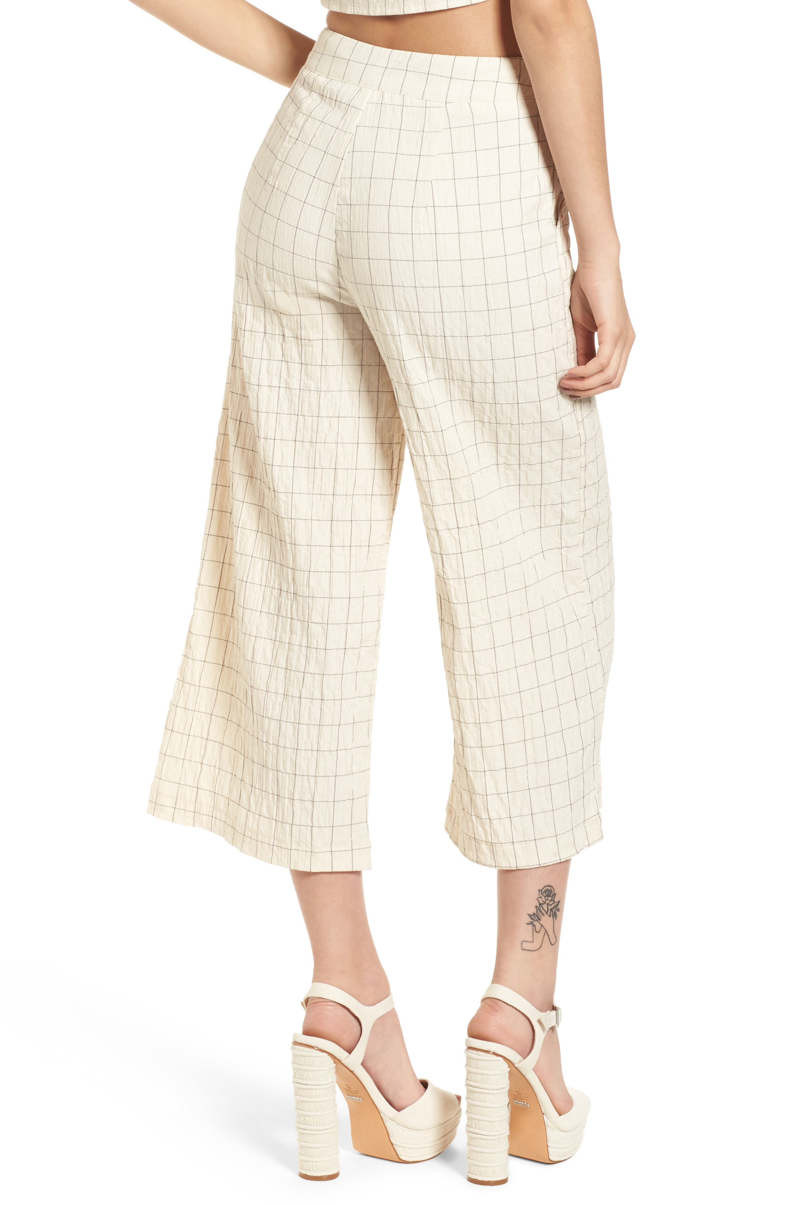 Plaid Culottes,                             Alternate thumbnail 2, color,                             250