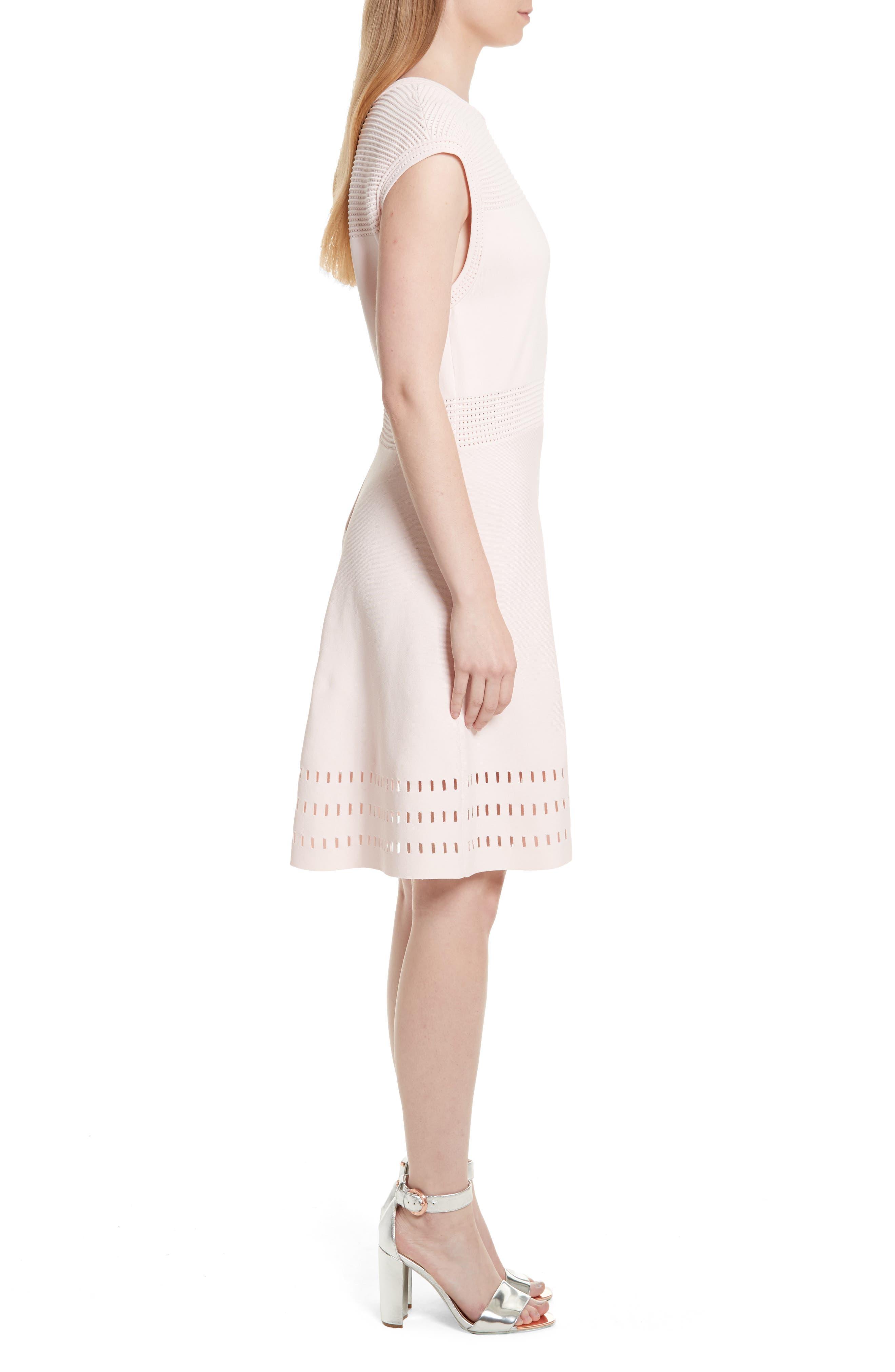 Aurbray Knit Skater Dress,                             Alternate thumbnail 3, color,                             672