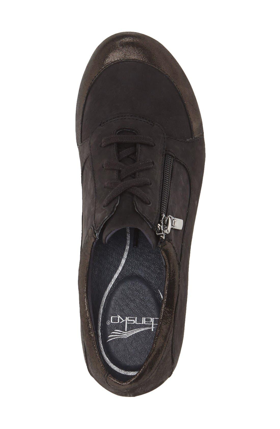 DANSKO,                             'Loretta' Platform Sneaker,                             Alternate thumbnail 3, color,                             001