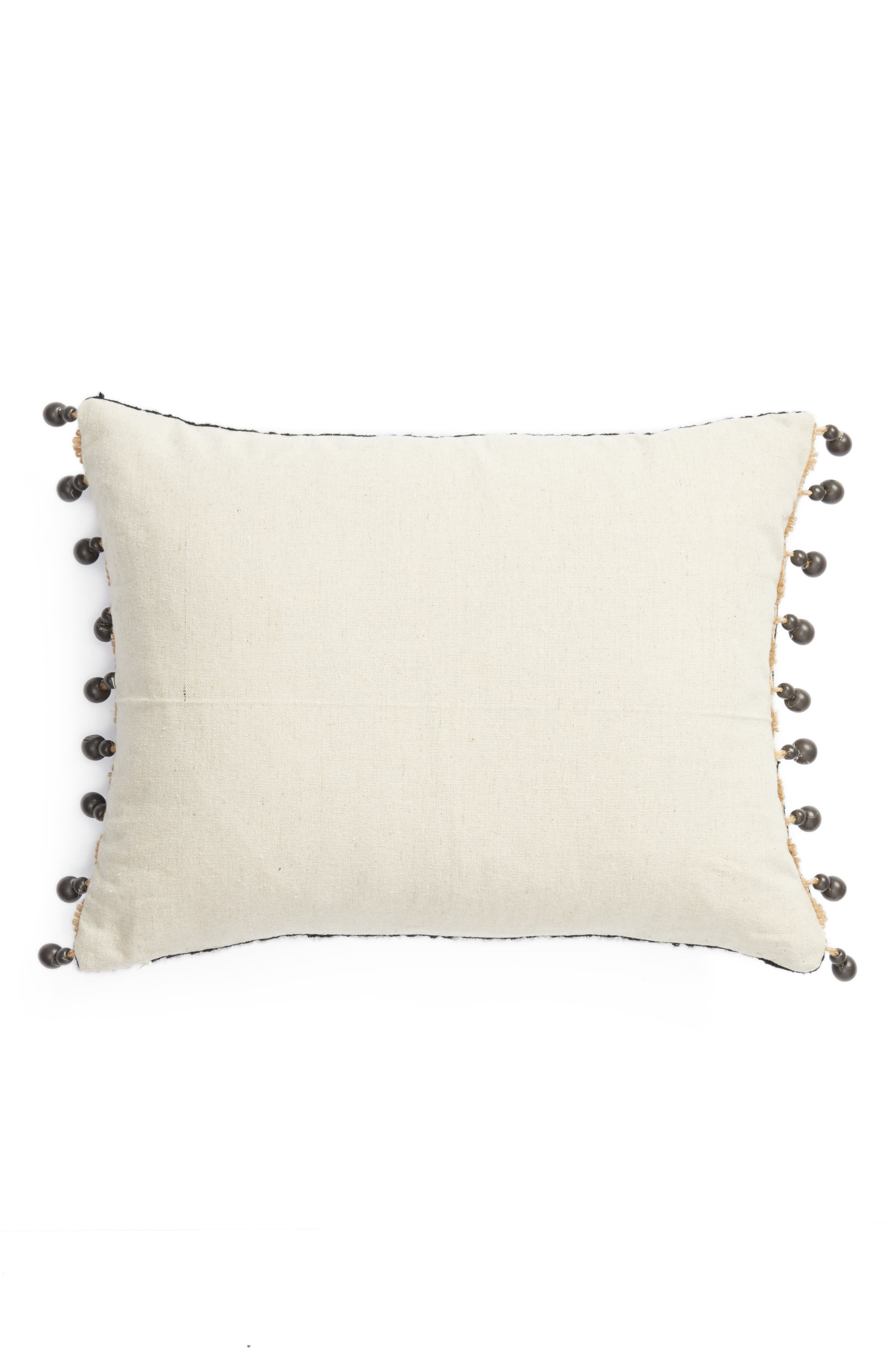 Moroccan Crewel Embroidered Pillow,                             Alternate thumbnail 2, color,                             010
