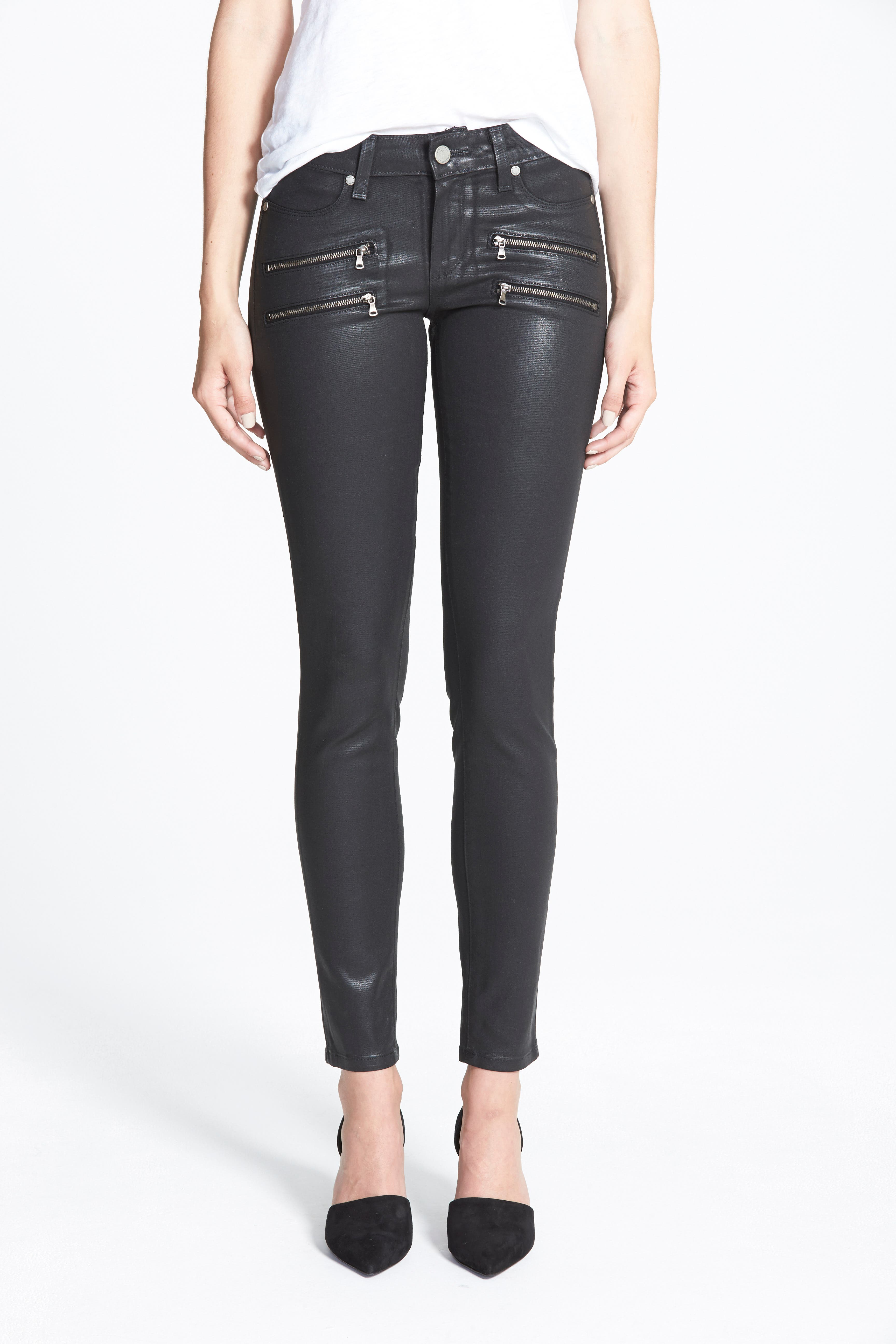 'Edgemont' Coated Ultra Skinny Jeans,                             Alternate thumbnail 2, color,                             001