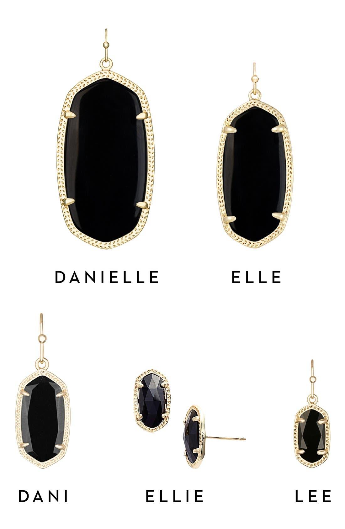Ellie Oval Stone Stud Earrings,                             Alternate thumbnail 4, color,                             002