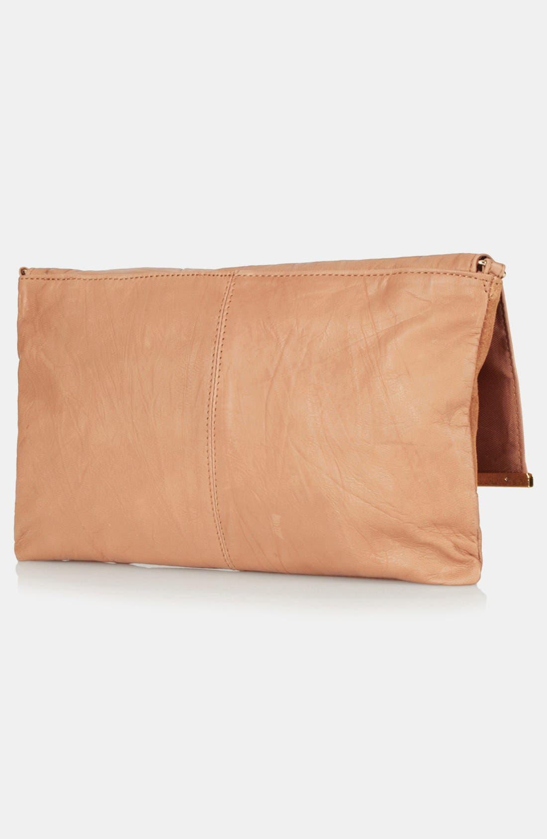 Leather Clutch,                             Alternate thumbnail 3, color,                             210