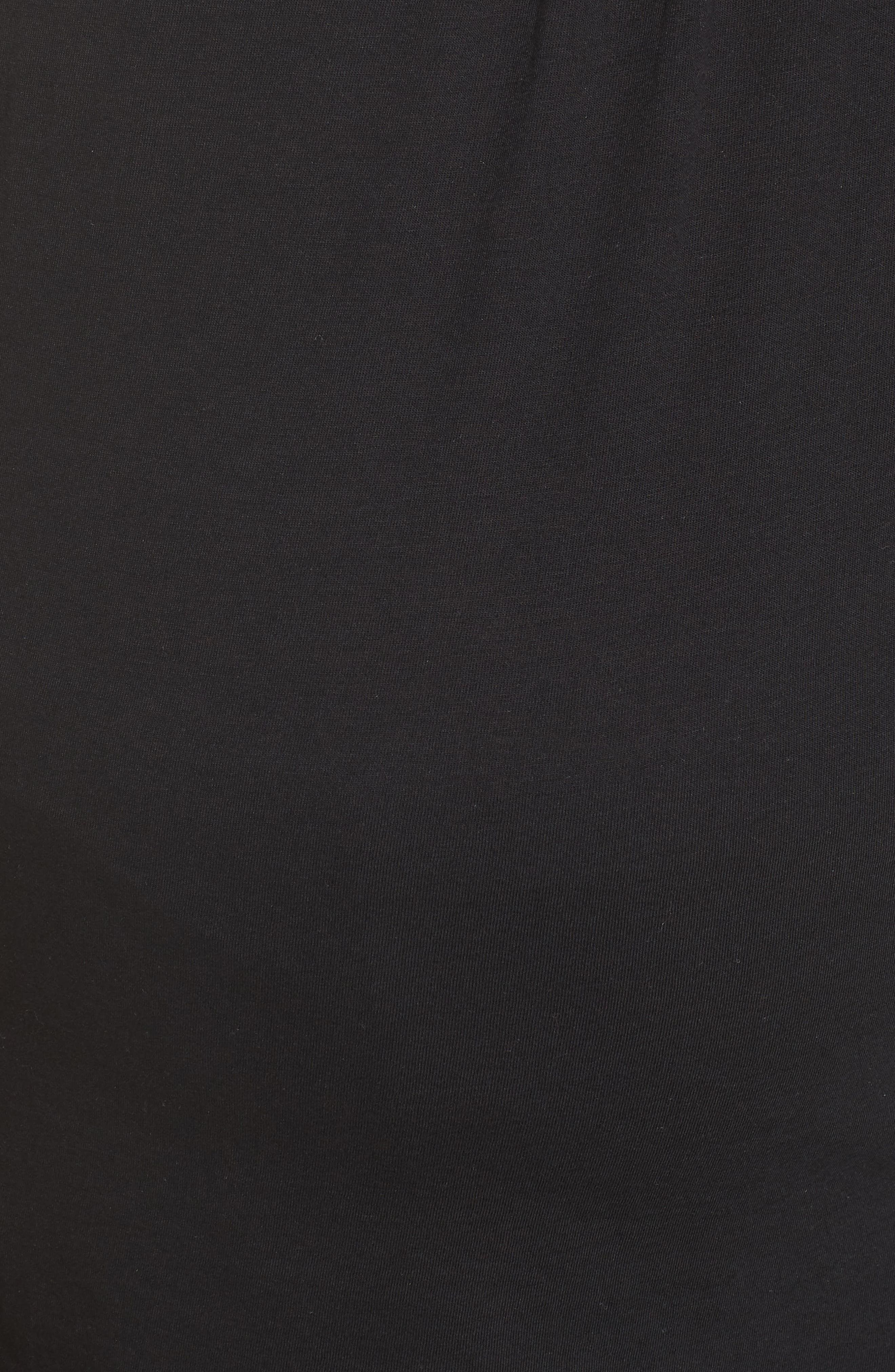 Maternity/Nursing Robe & Pajamas,                             Alternate thumbnail 6, color,                             BLACK