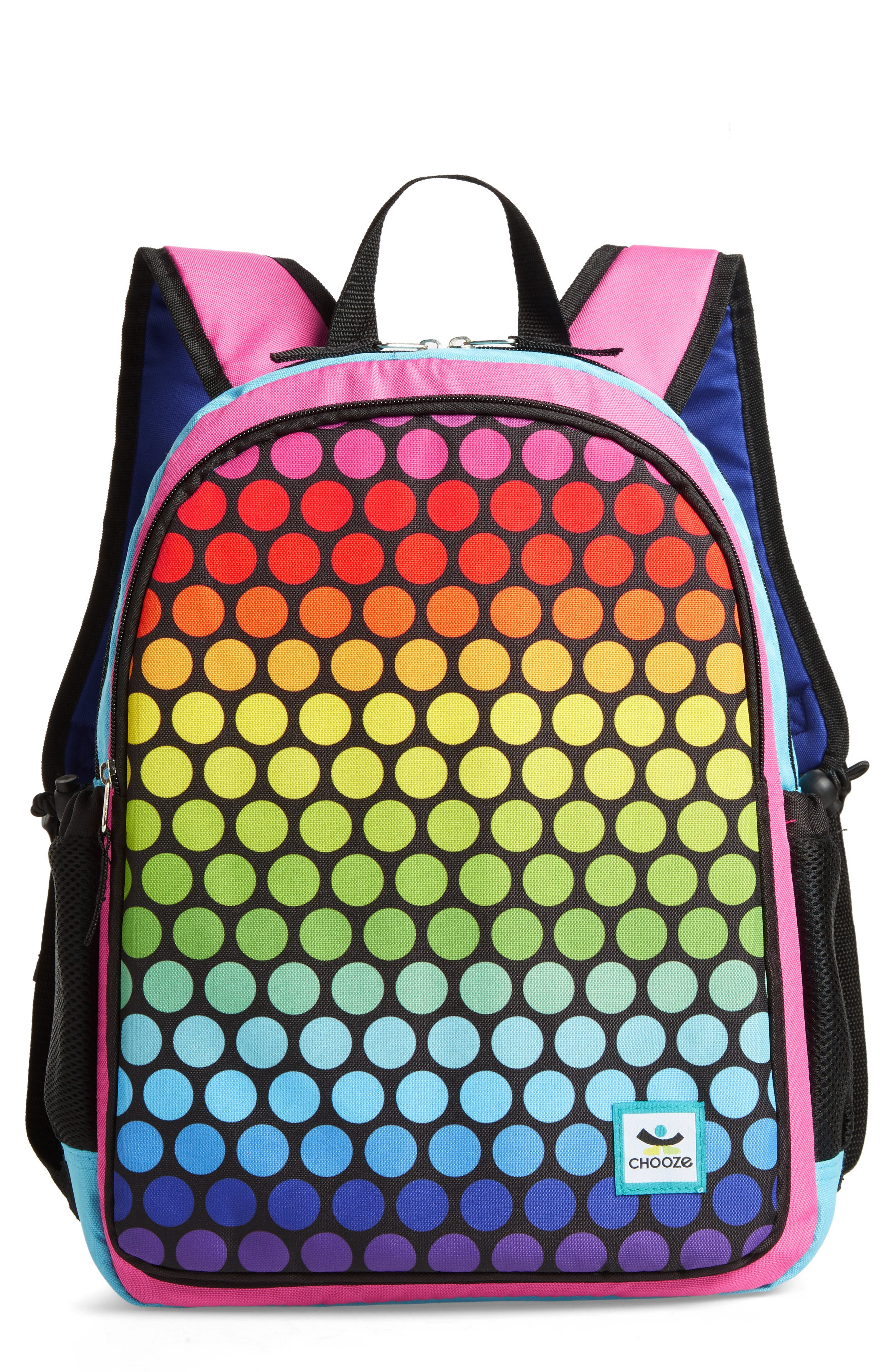 Hue Rainbow Reversible Backpack, Main, color, 001