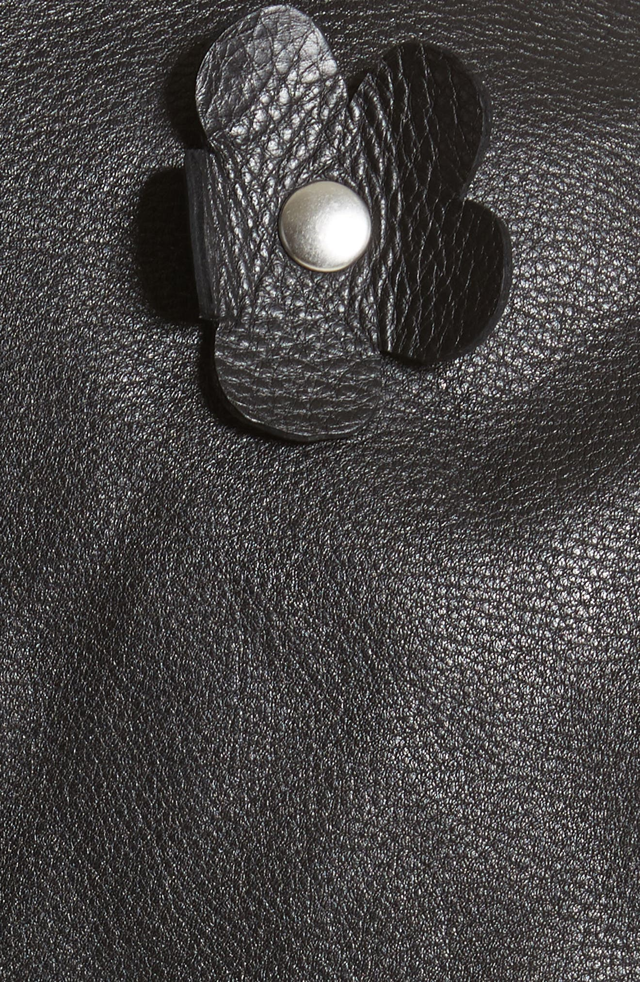 Petals Delancey Leather Moto Jacket,                             Alternate thumbnail 6, color,