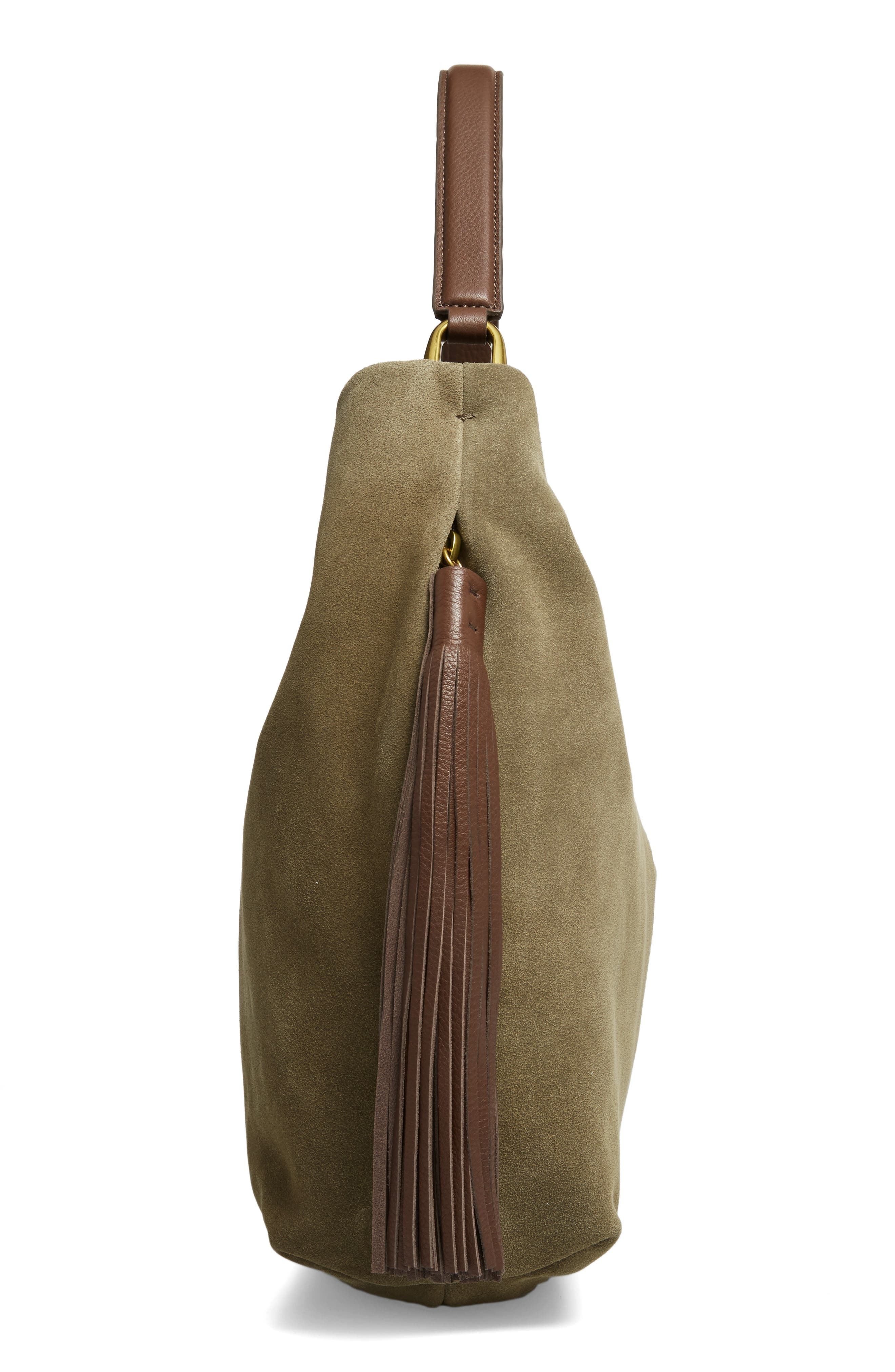 Meridian Suede Hobo,                             Alternate thumbnail 5, color,                             311