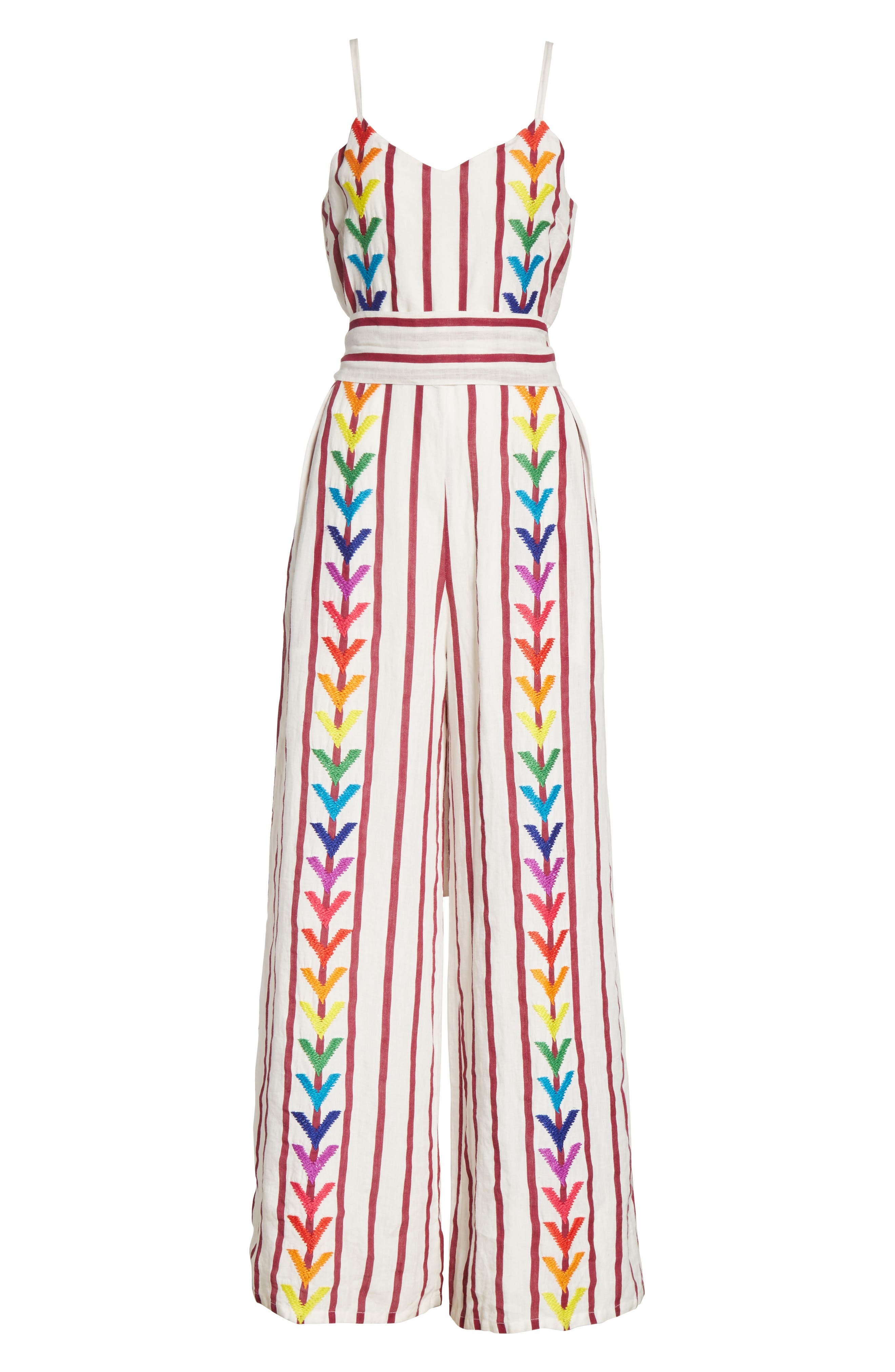 Lisa Stripe Jumpsuit,                             Alternate thumbnail 6, color,                             930