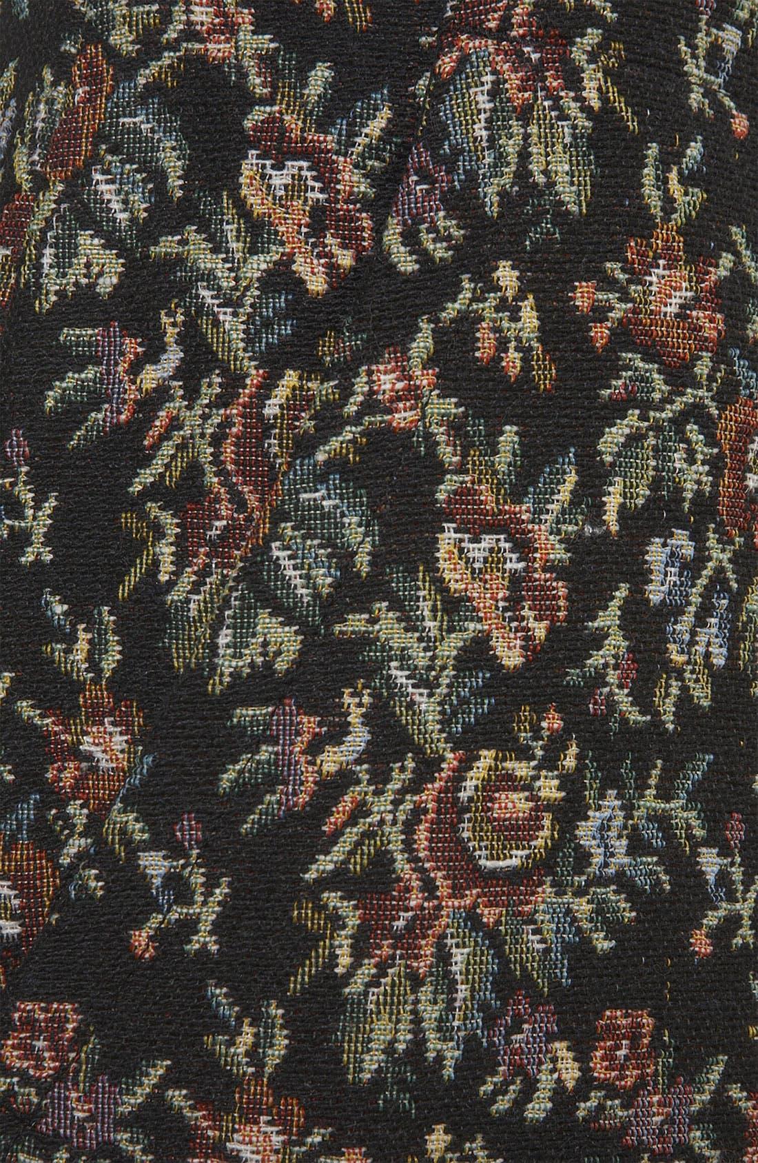 Tapestry Print Skinny Pants,                             Alternate thumbnail 3, color,                             001
