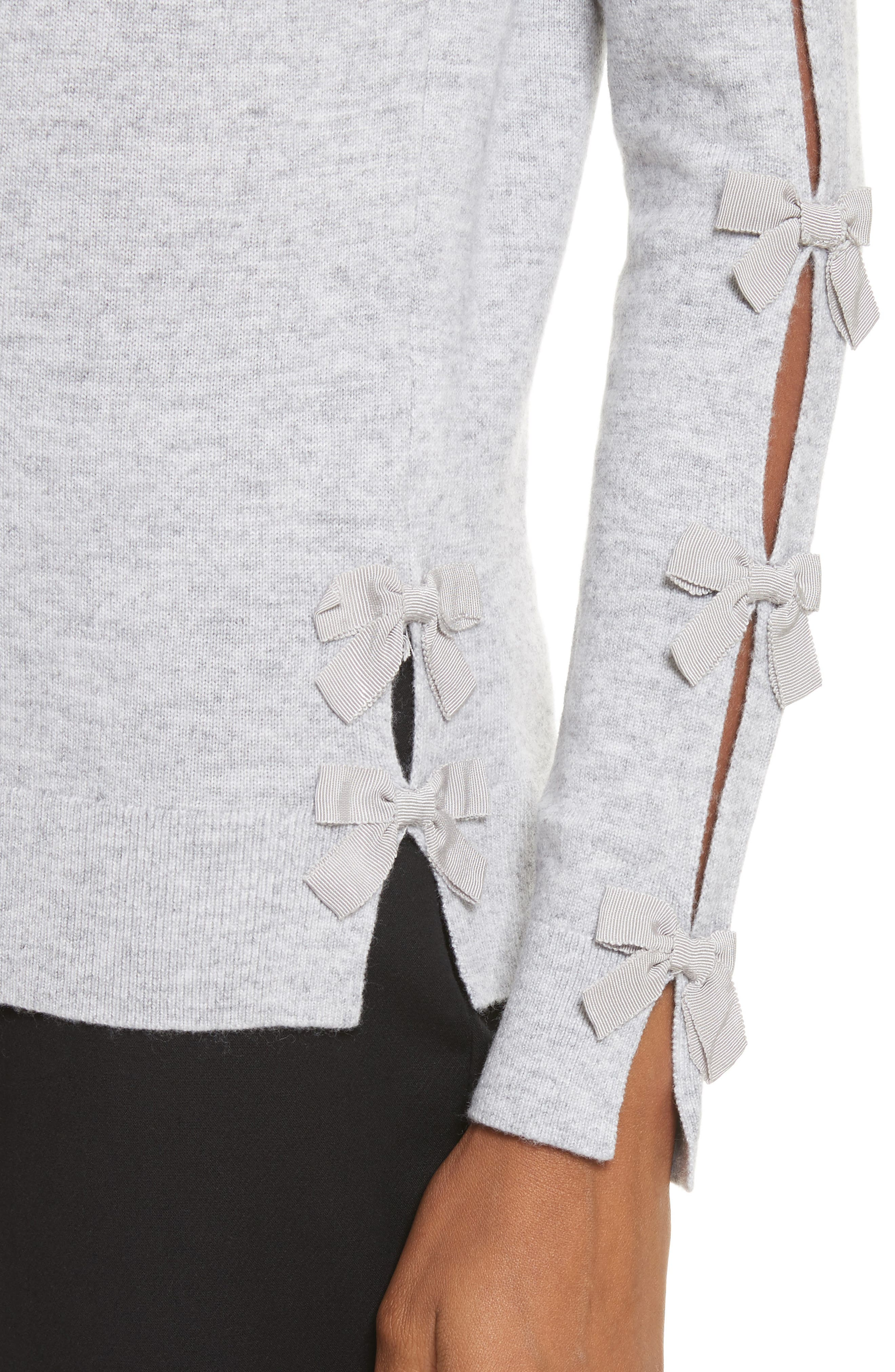 Bow Sleeve Sweater,                             Alternate thumbnail 4, color,                             050