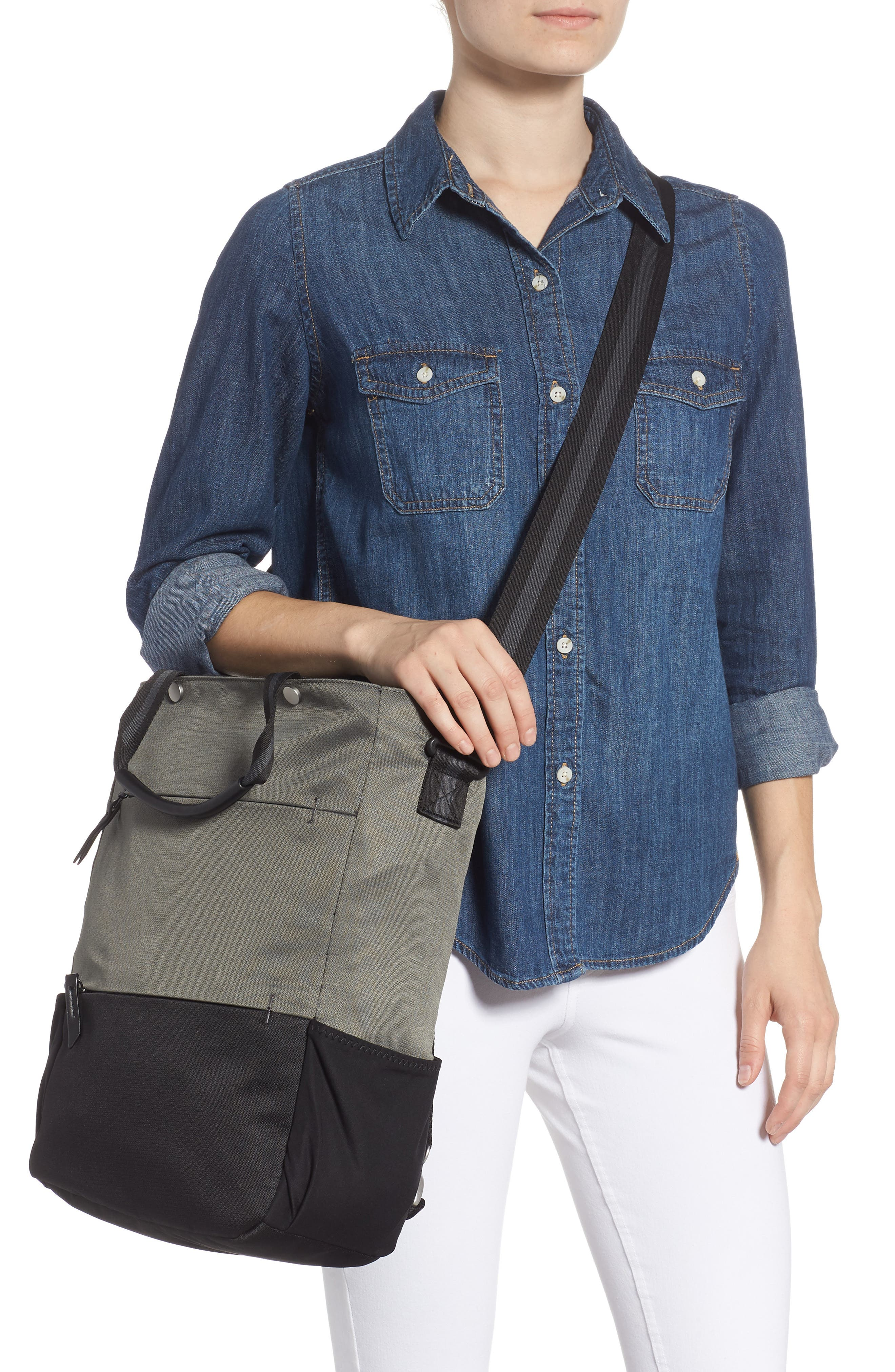 Camden RFID Convertible Backpack,                             Alternate thumbnail 4, color,                             GREY FLINT/ BLACK