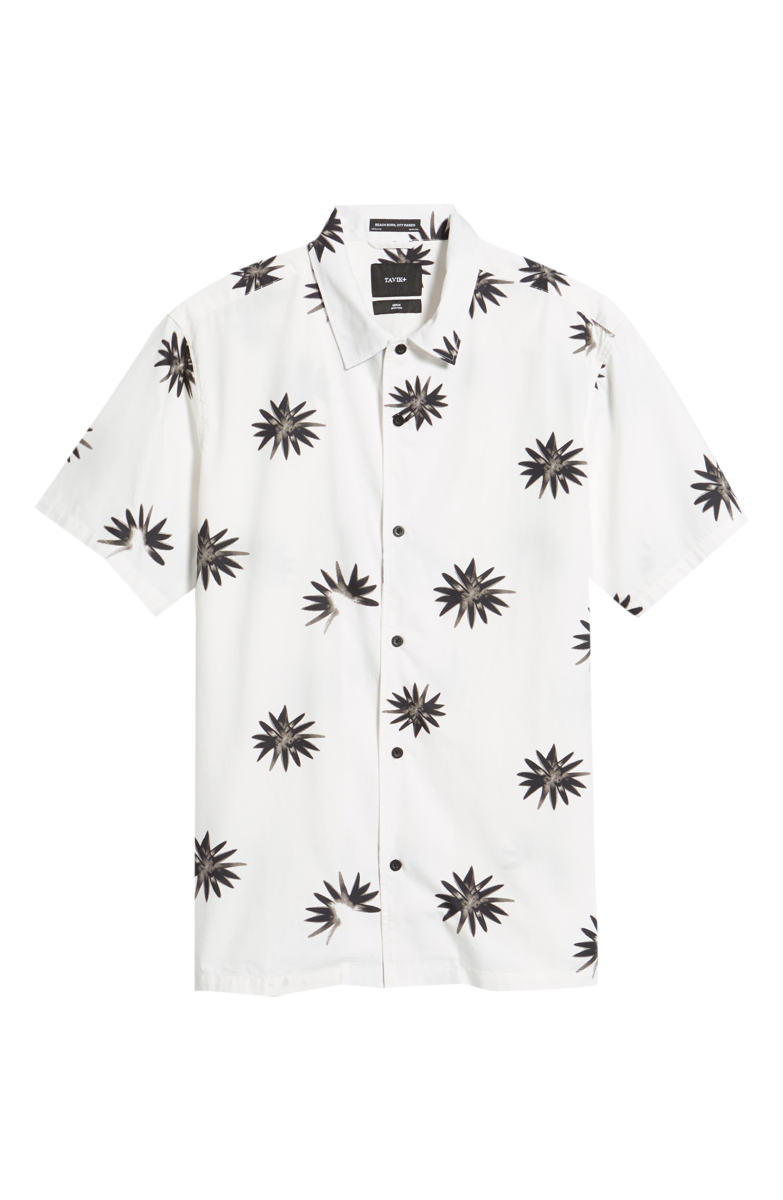 Villa Floral Woven Shirt,                             Alternate thumbnail 6, color,                             WHITE