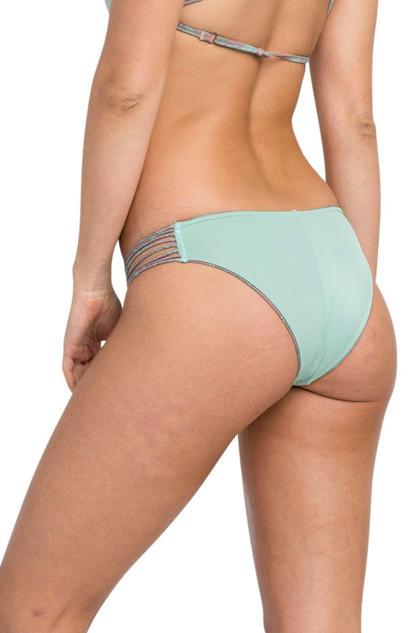 Palmer Reversible Cheeky Bikini Bottoms,                             Alternate thumbnail 4, color,                             500