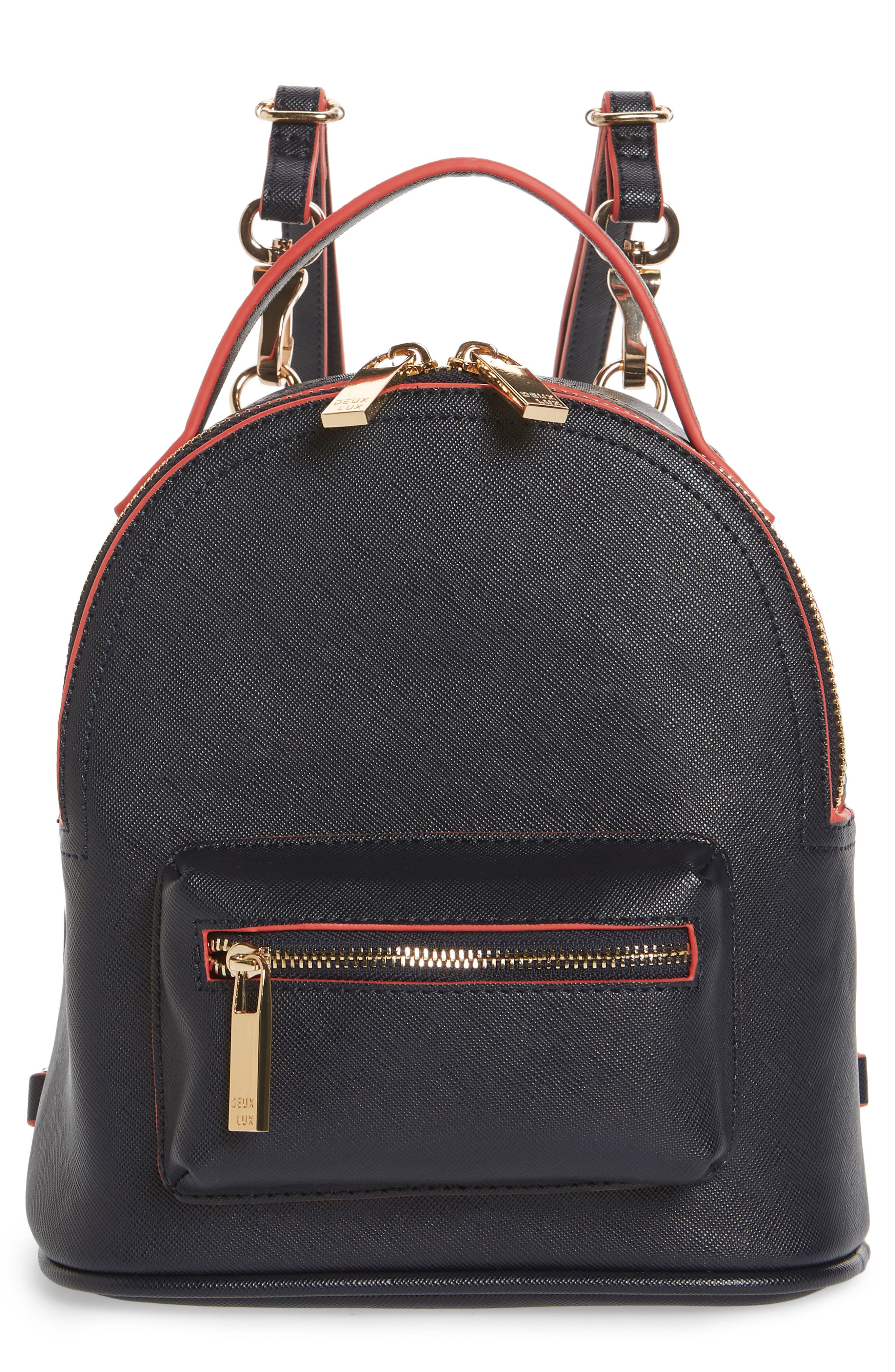 Annabelle Mini Faux Leather Backpack,                             Main thumbnail 1, color,                             490
