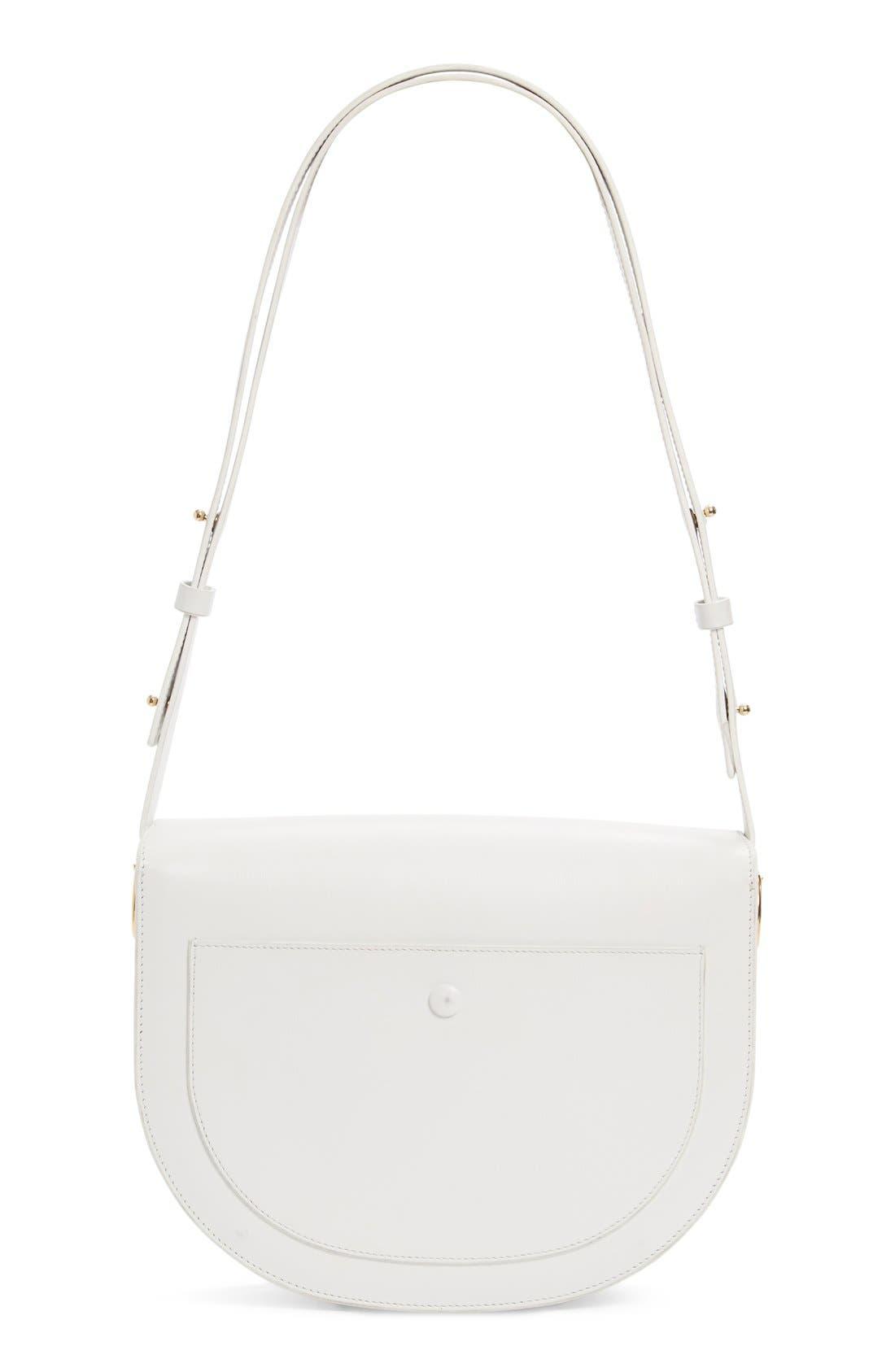 Half Moon Box Shoulder Bag,                             Alternate thumbnail 2, color,                             WHITE