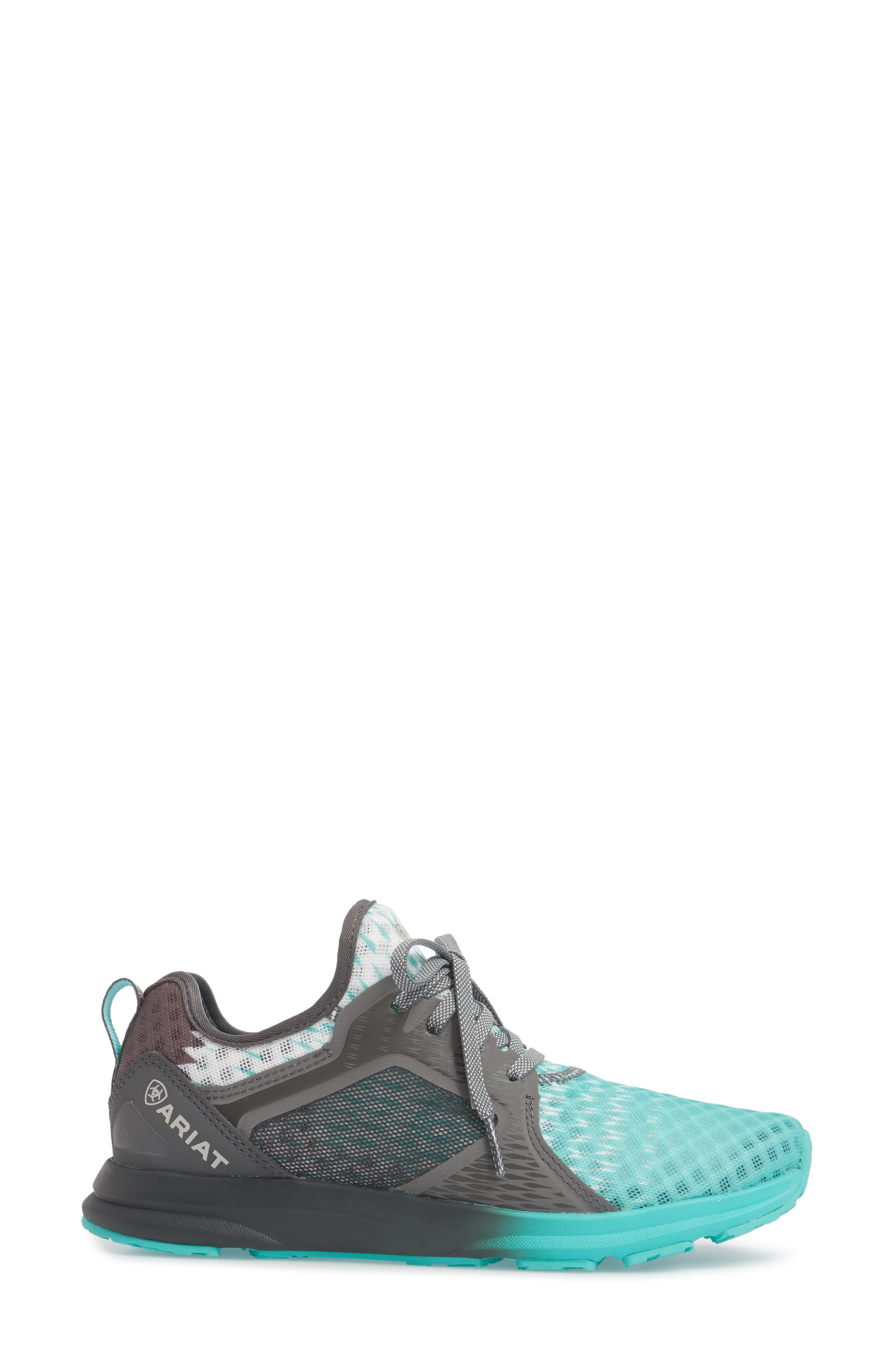 Fuse Ombré Sneaker,                             Alternate thumbnail 3, color,                             TURQUOISE MESH
