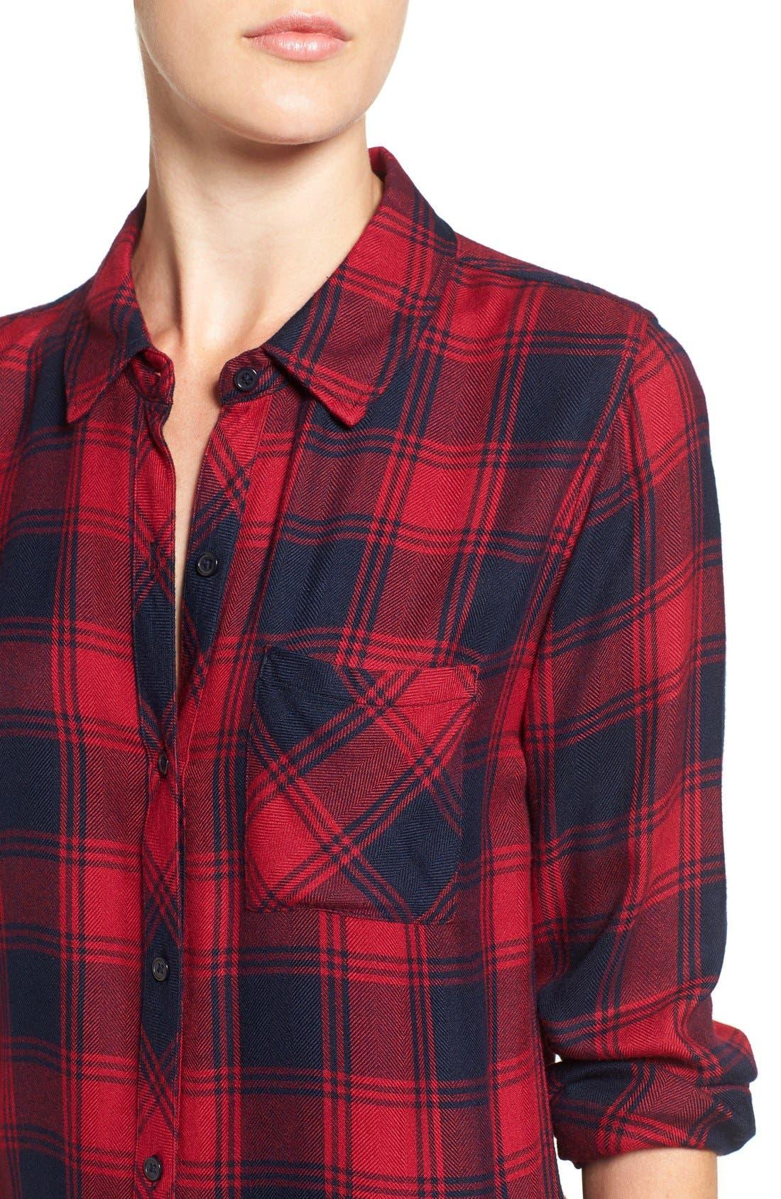 Hunter Plaid Shirt,                             Alternate thumbnail 665, color,