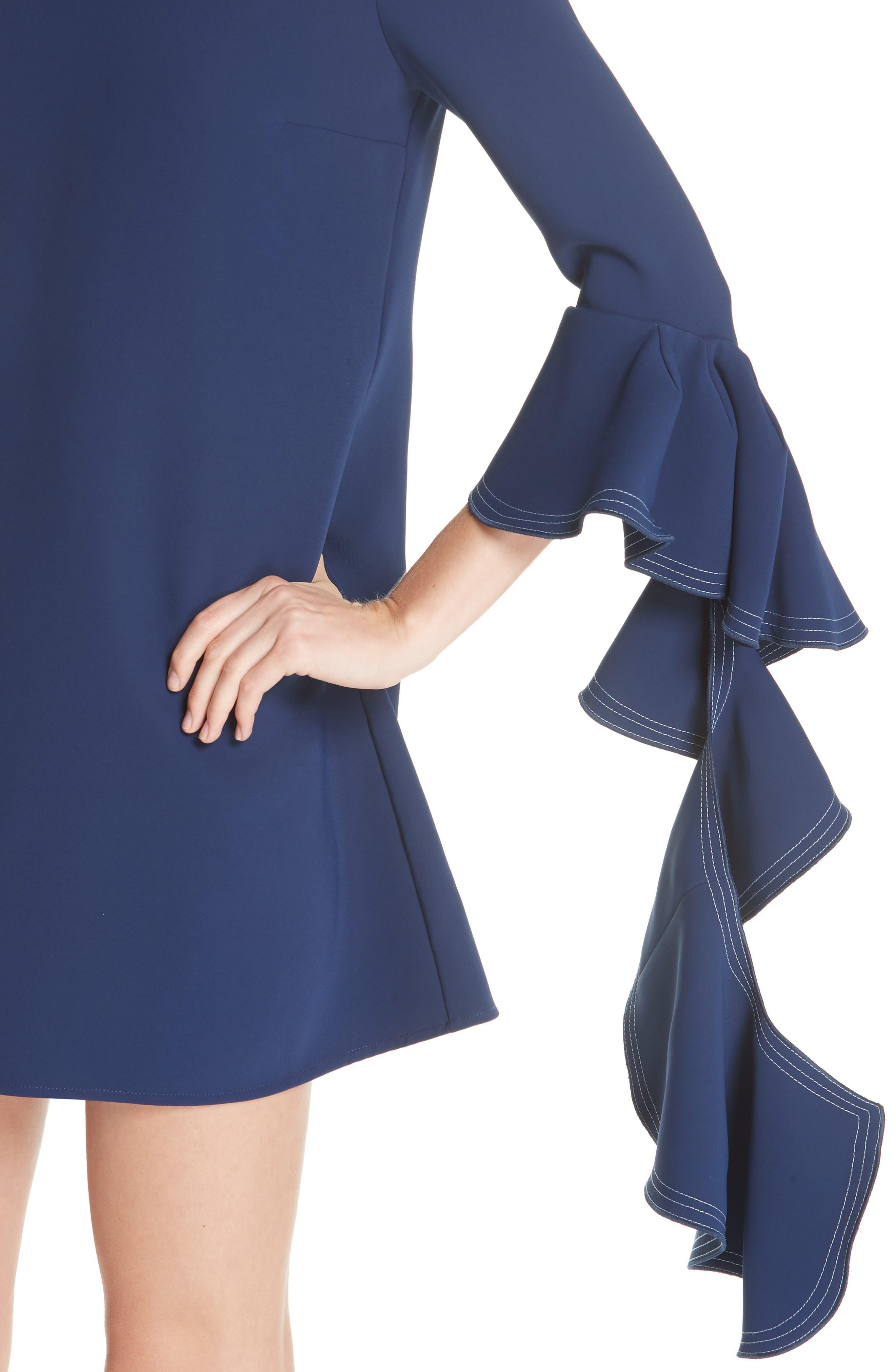 Kilkenny Frill Sleeve Minidress,                             Alternate thumbnail 4, color,                             400