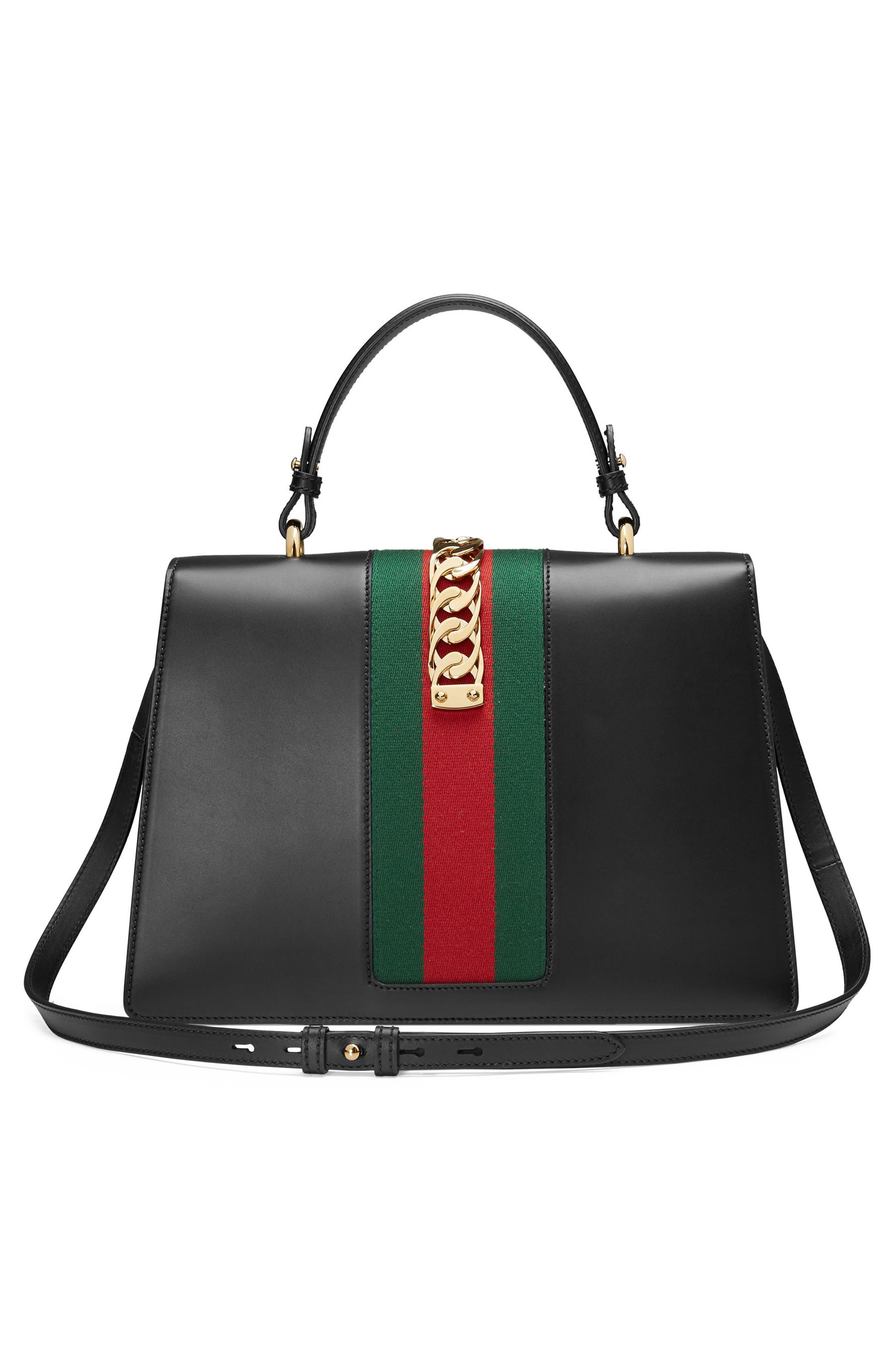 Sylvie Top Handle Leather Shoulder Bag,                             Alternate thumbnail 2, color,                             NERO/VRV