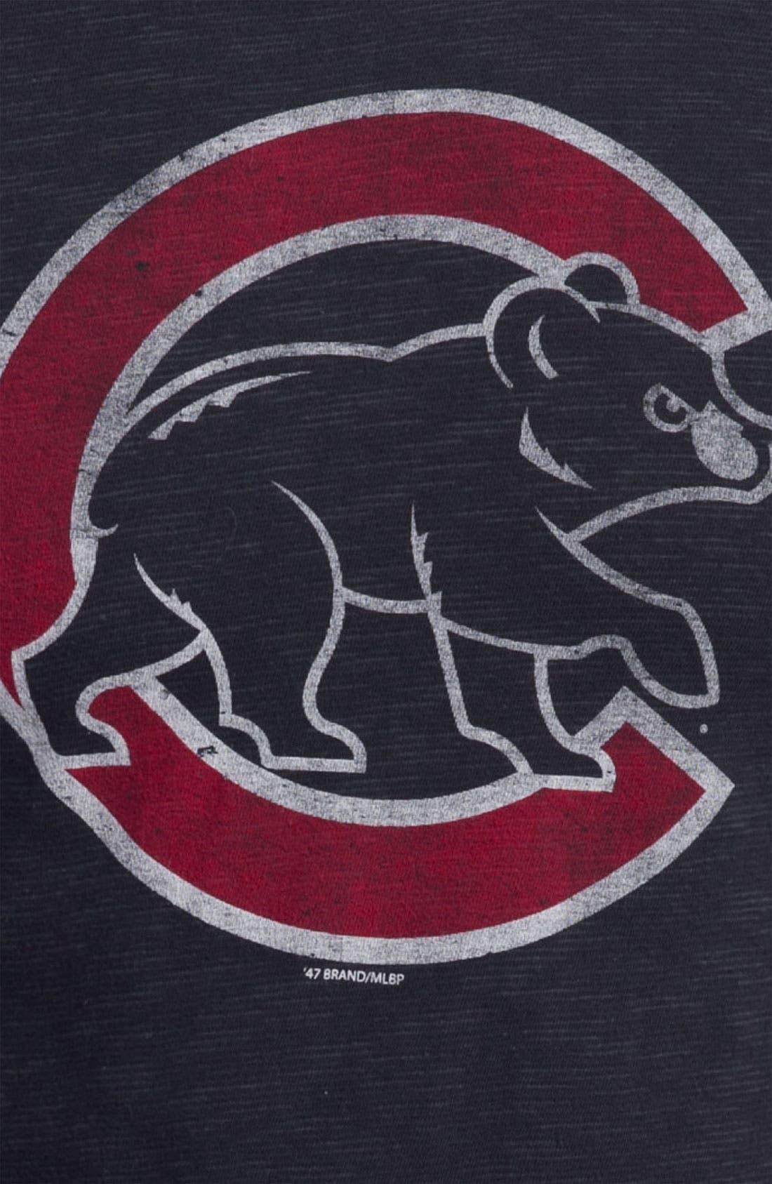 'Chicago Cubs' Regular Fit Crewneck T-Shirt,                             Alternate thumbnail 66, color,