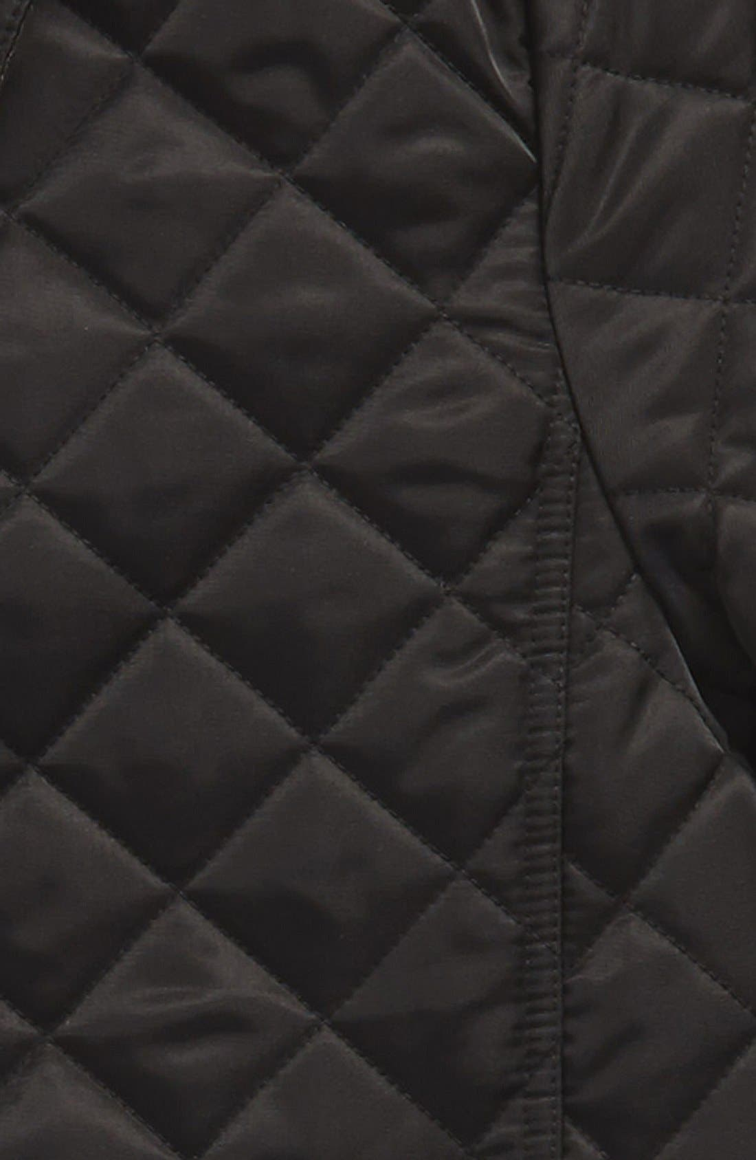 BURBERRY,                             'Mini Ashurst' Quilted Jacket,                             Alternate thumbnail 2, color,                             001