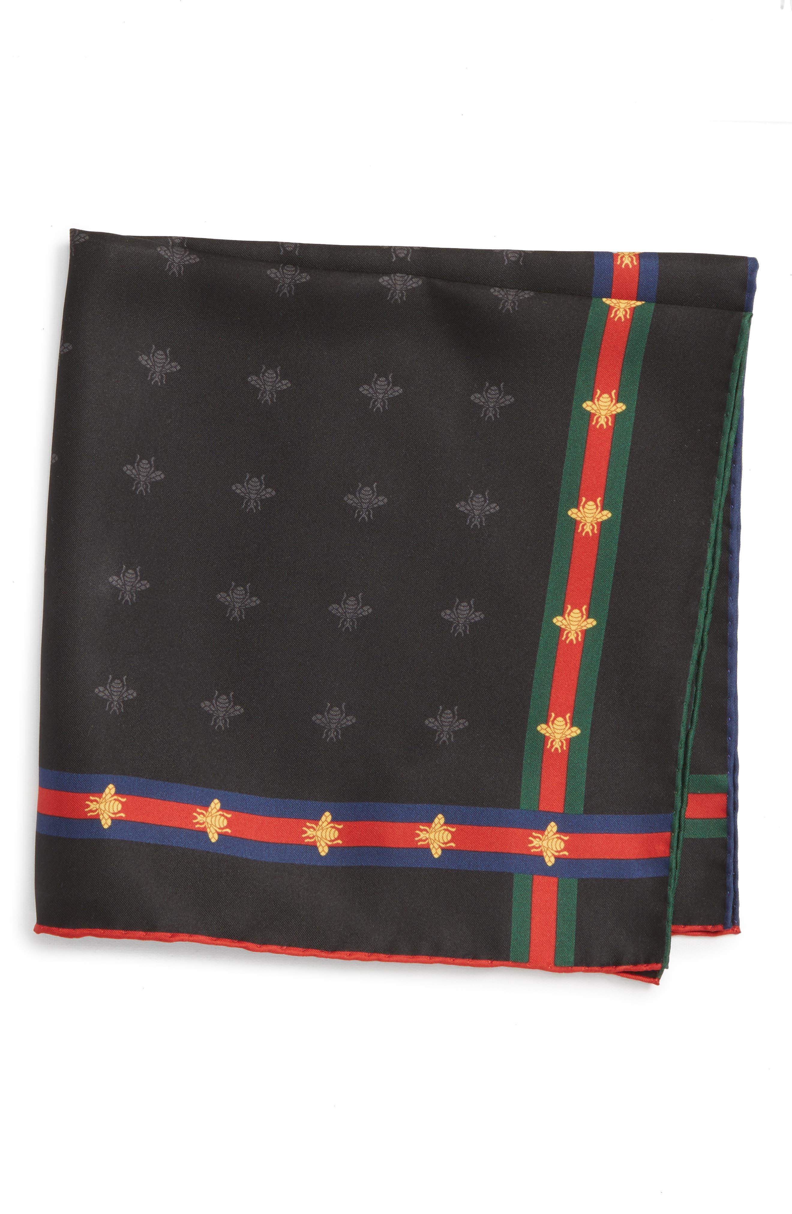 Runebis Silk Twill Pocket Square,                         Main,                         color, 003