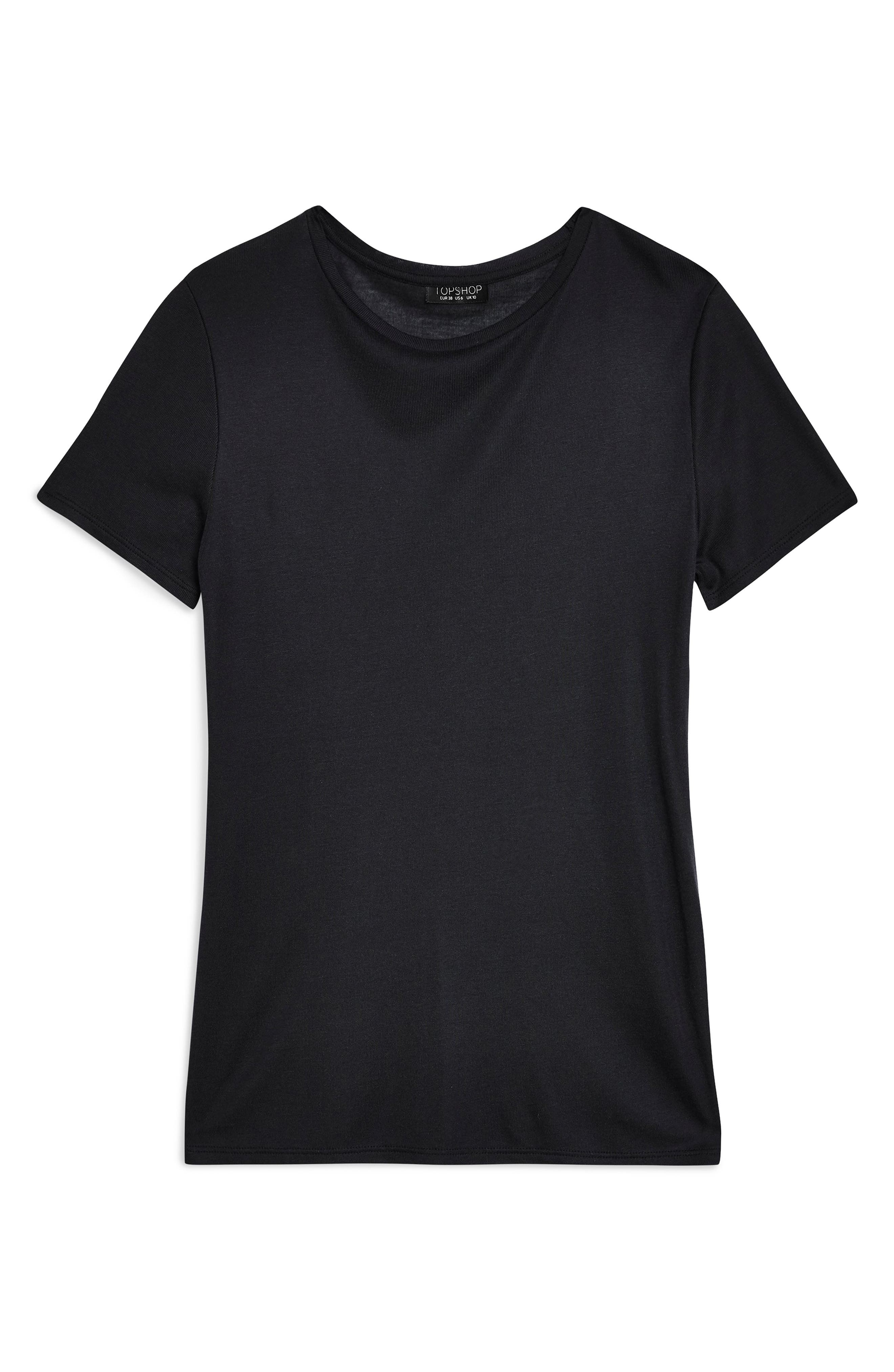 Premium Clean Tee,                             Alternate thumbnail 3, color,                             BLACK