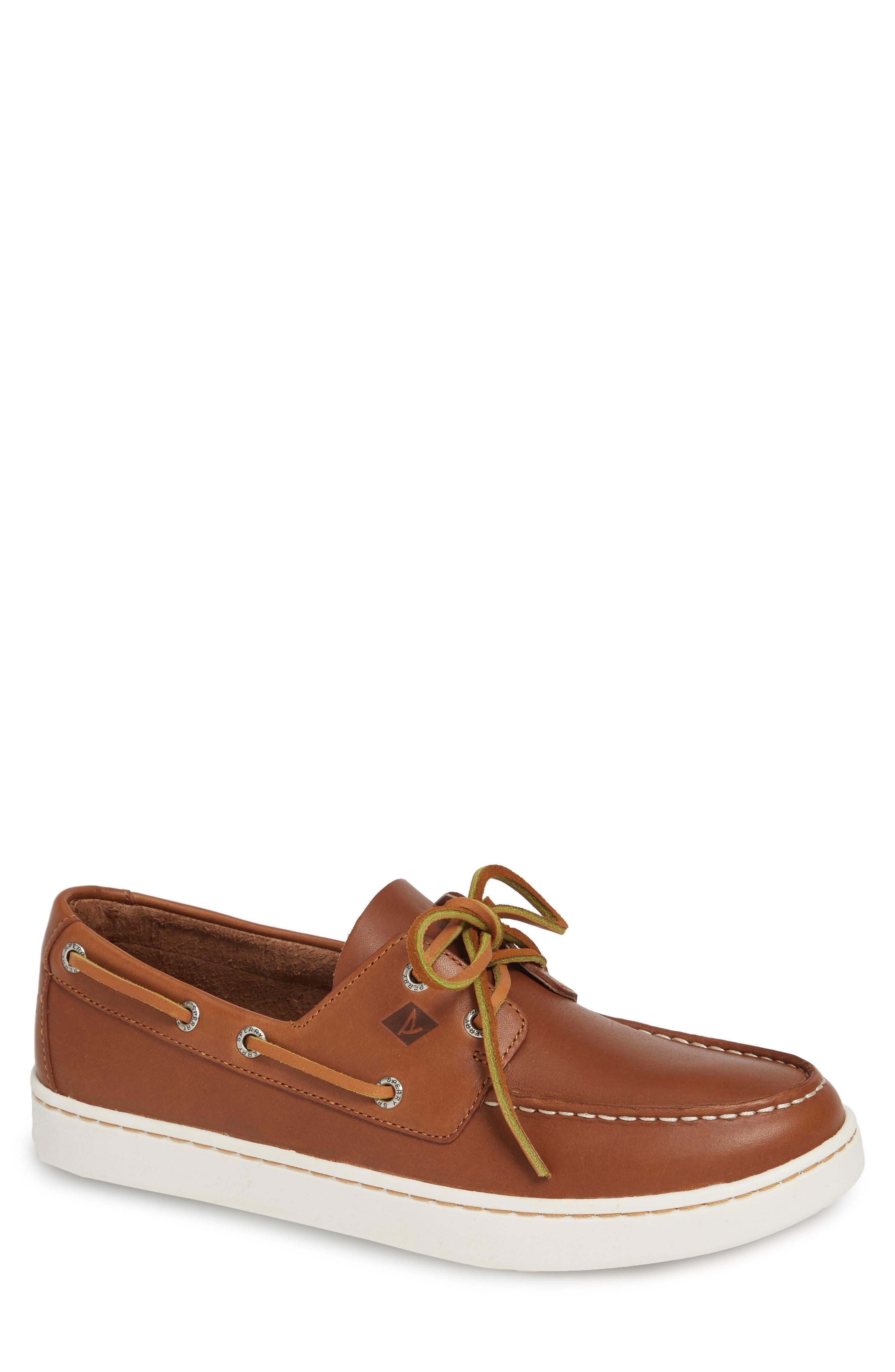 Cup Boat Shoe, Main, color, TAN