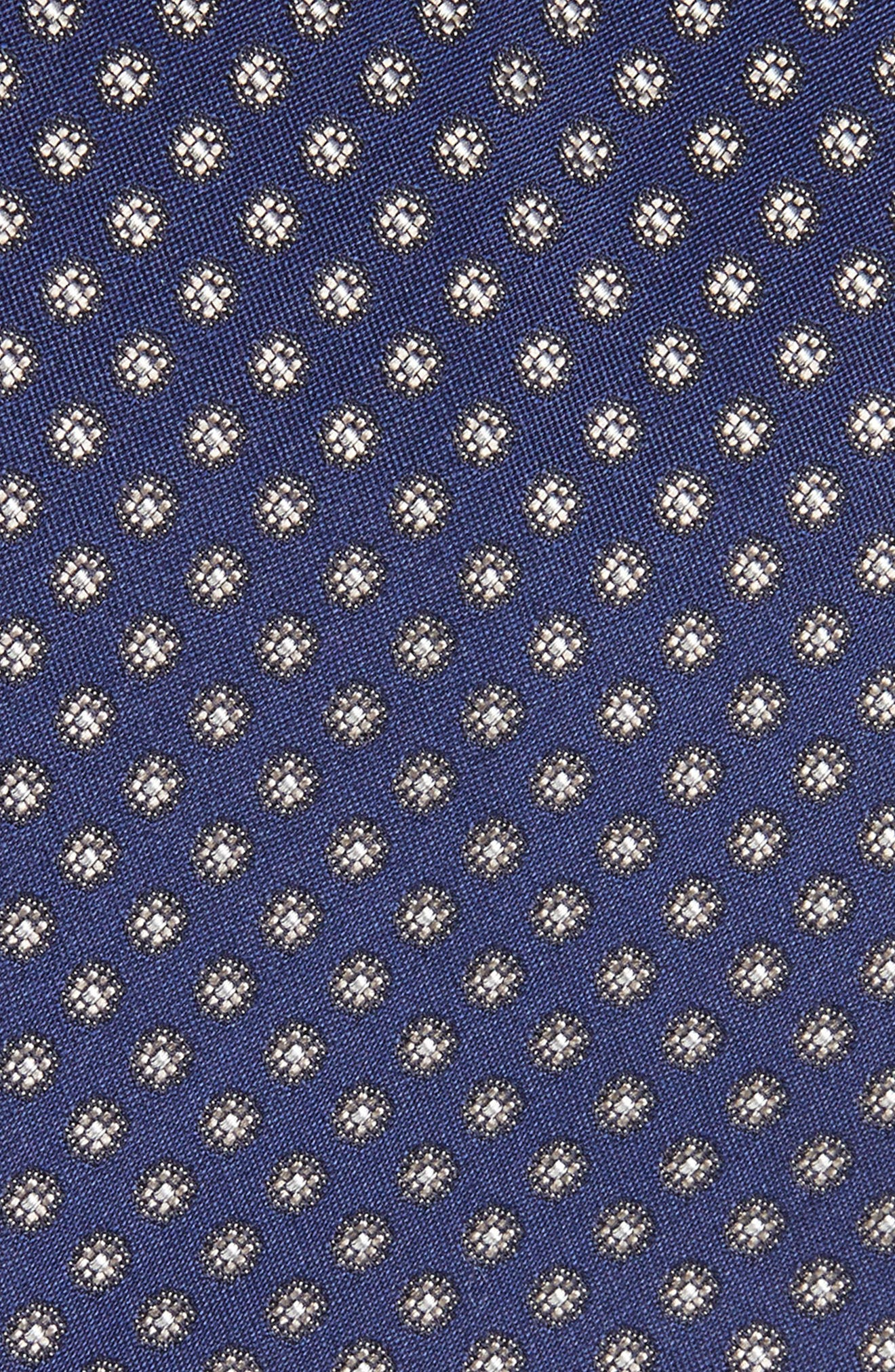Floral Silk Tie,                             Alternate thumbnail 2, color,                             NAVY/ BROWN