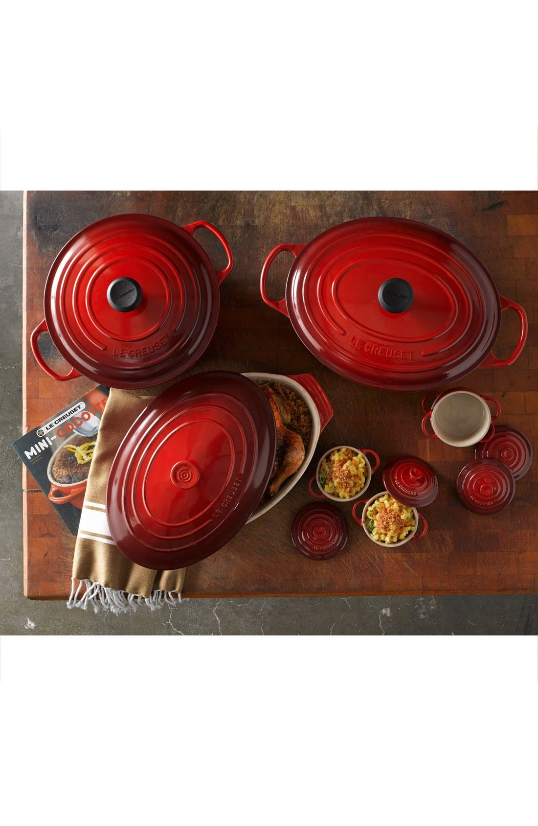 Signature 9 1/2 Quart Oval Enamel Cast Iron French/Dutch Oven,                             Alternate thumbnail 2, color,                             400