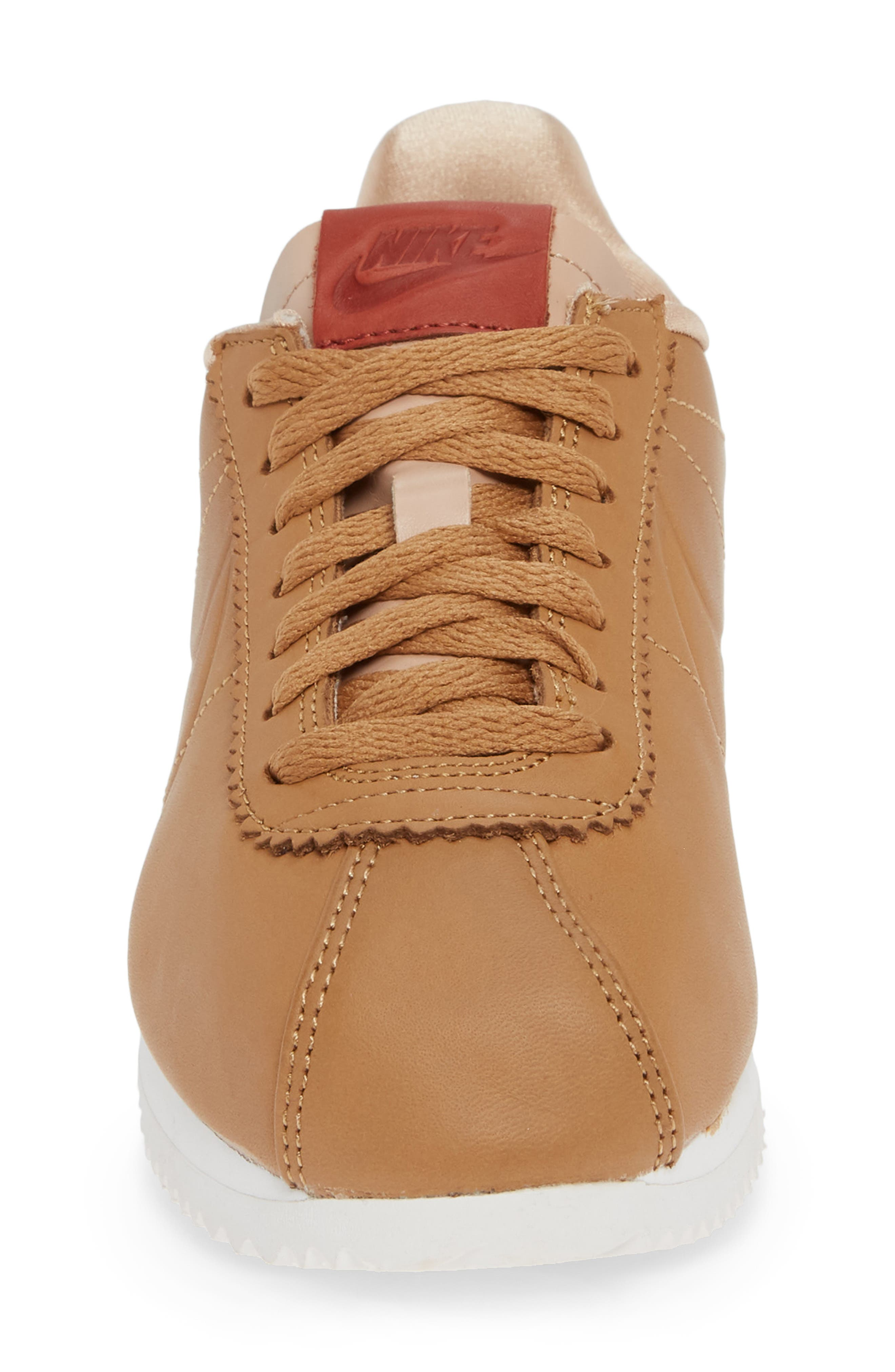 LA Cortez x Maria Sharapova Premium Sneaker,                             Alternate thumbnail 4, color,                             CAMEL/CAMEL