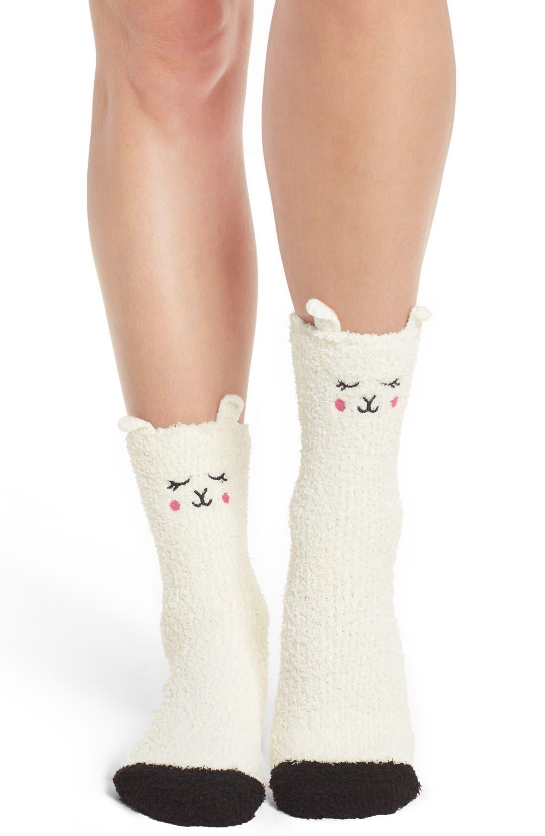 Lamb Plush Socks,                             Main thumbnail 1, color,                             105
