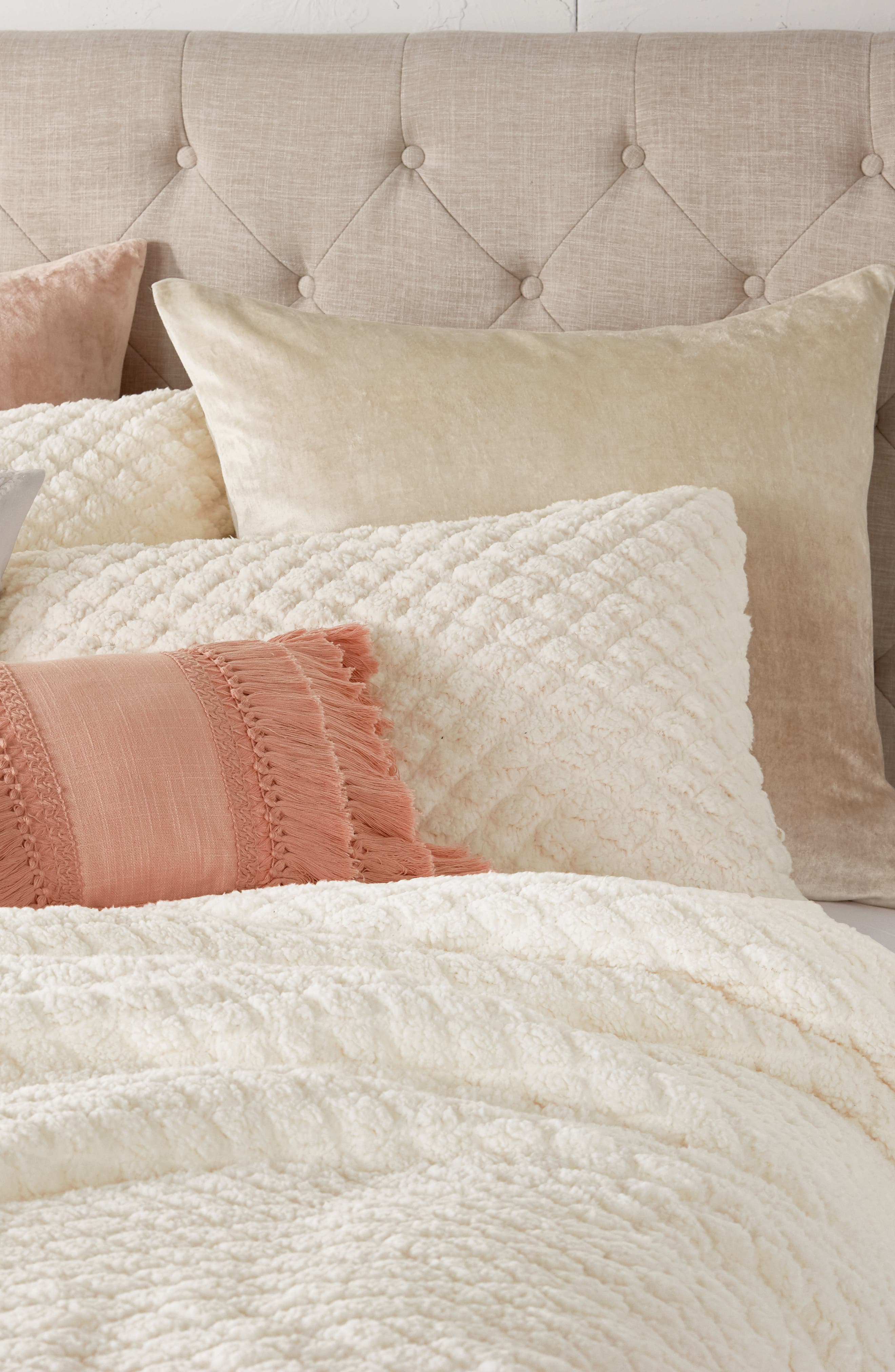 Diamond High Pile Fleece Comforter & Sham Set,                             Alternate thumbnail 7, color,                             902