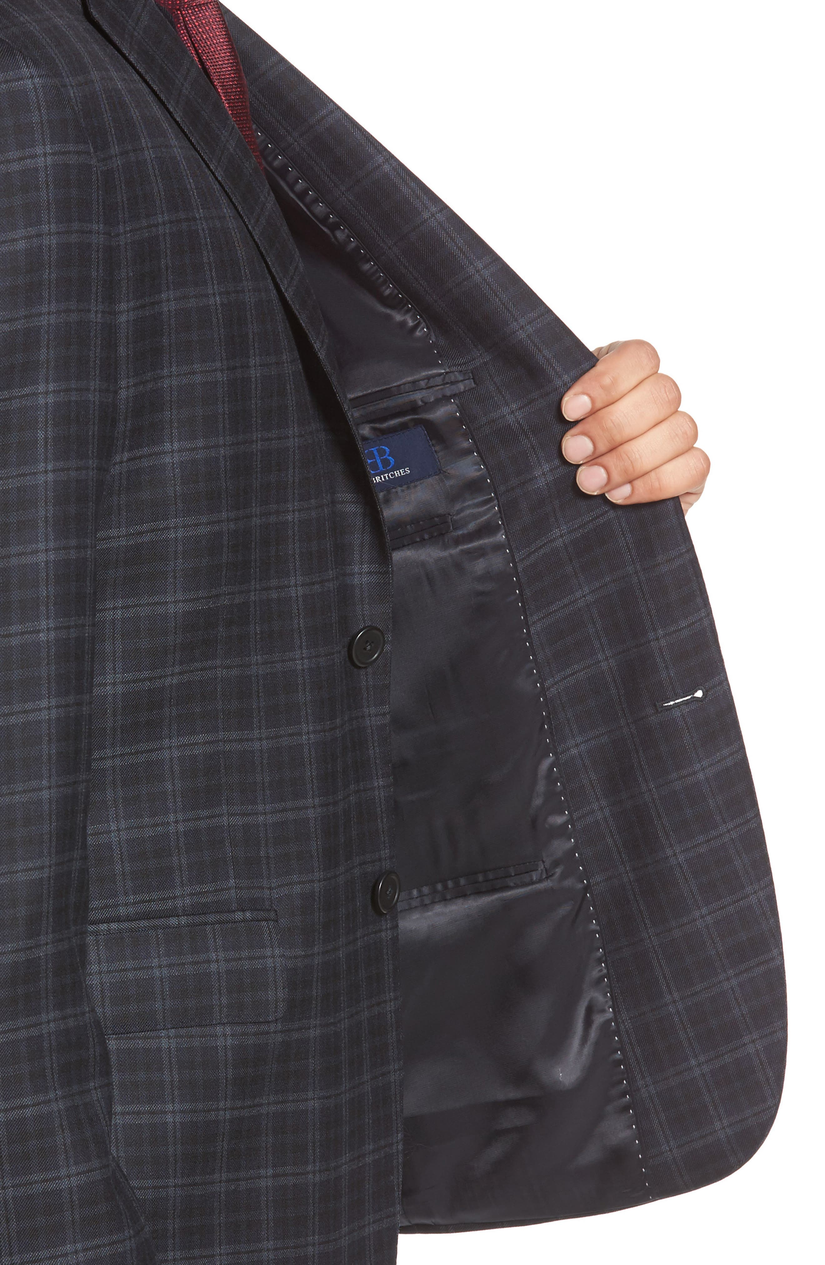 Classic Fit Plaid Wool Sport Coat,                             Alternate thumbnail 4, color,                             422