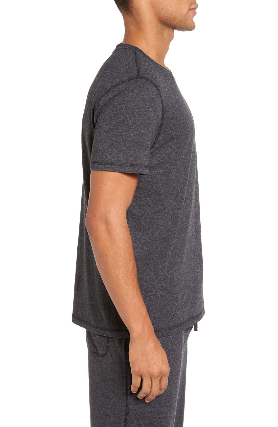 Recycled Cotton Blend T-Shirt,                             Alternate thumbnail 3, color,                             001