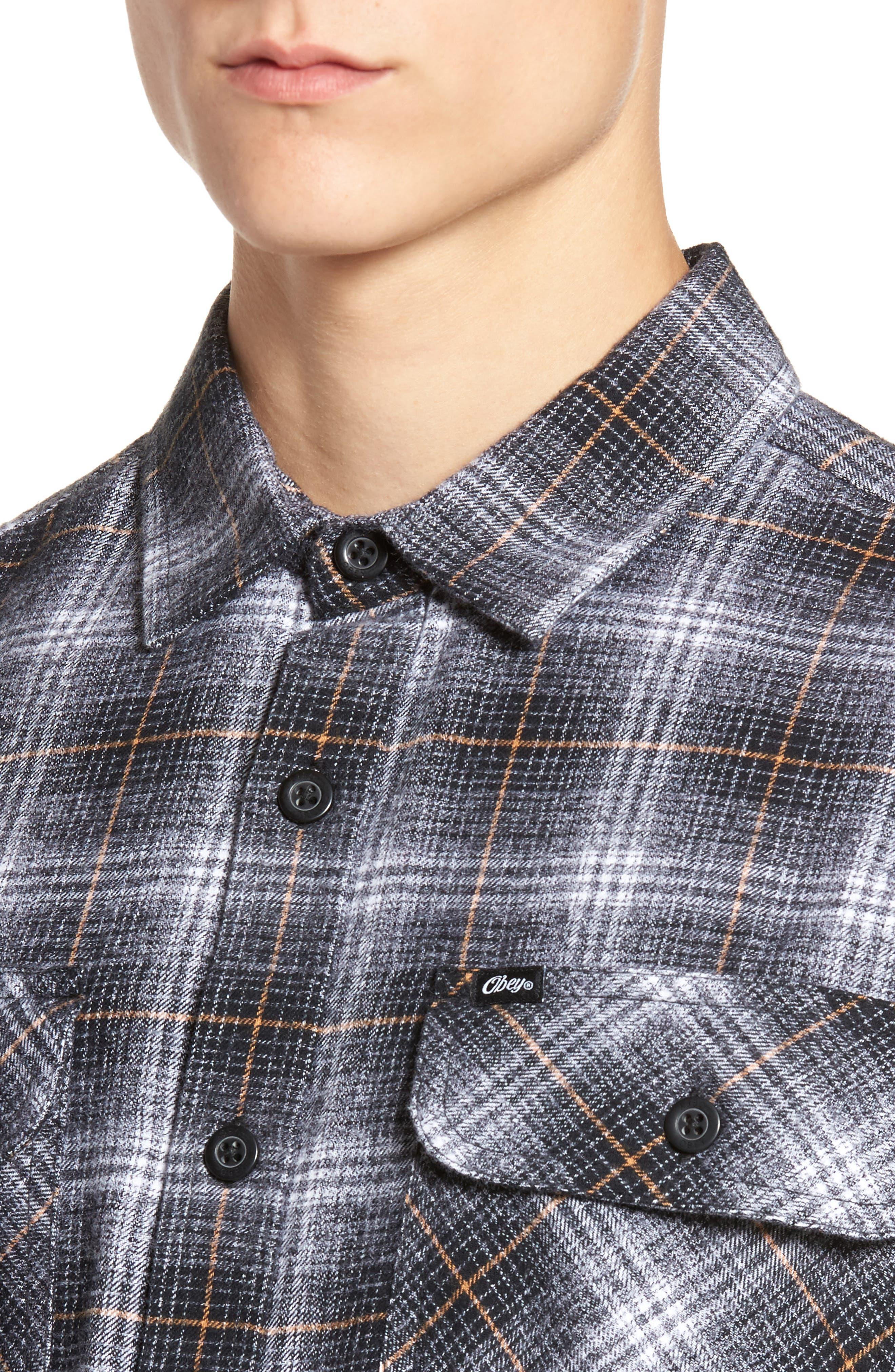 Shriner Flannel Shirt,                             Alternate thumbnail 4, color,                             002