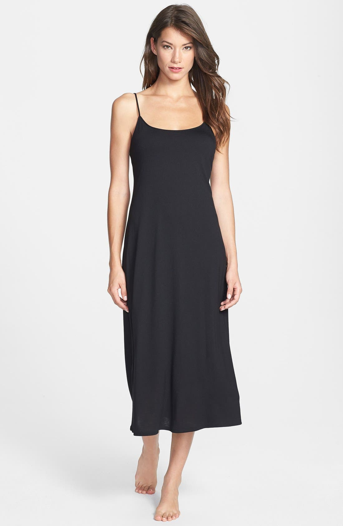 Shangri La Nightgown,                         Main,                         color, BLACK
