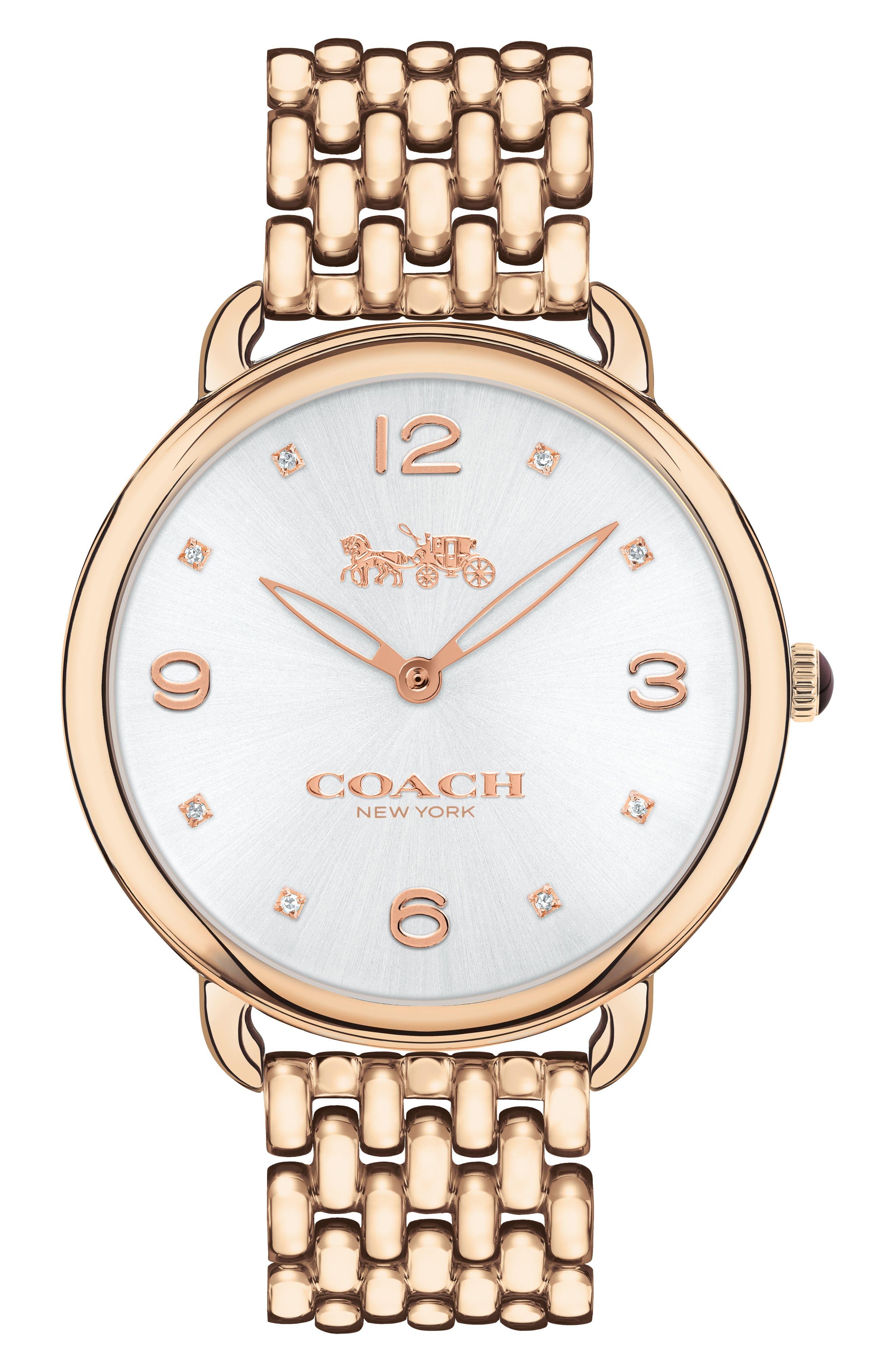 Delancey Slim Diamond Bracelet Watch, 37mm,                             Main thumbnail 1, color,                             ROSE GOLD