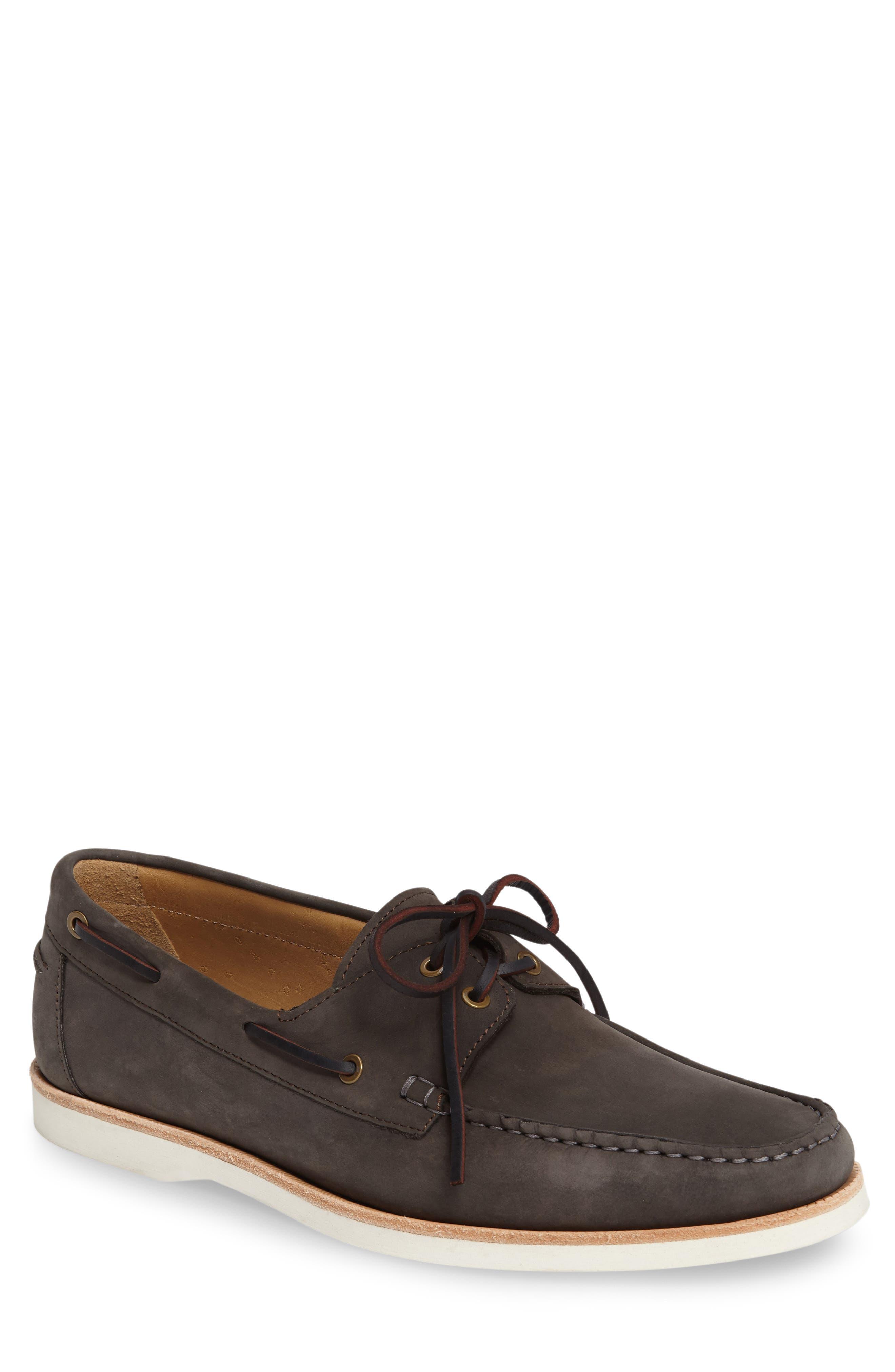 Cooper Boat Shoe,                         Main,                         color, SLATE NUBUCK LEATHER