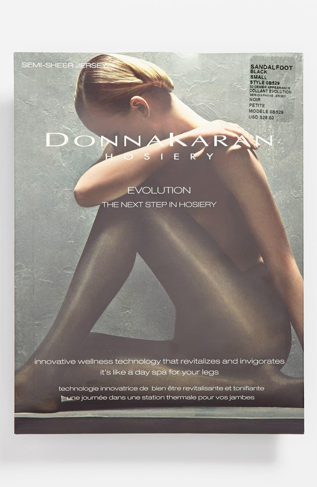 Donna Karan Evolution Semi-Sheer Pantyhose,                             Alternate thumbnail 2, color,                             003