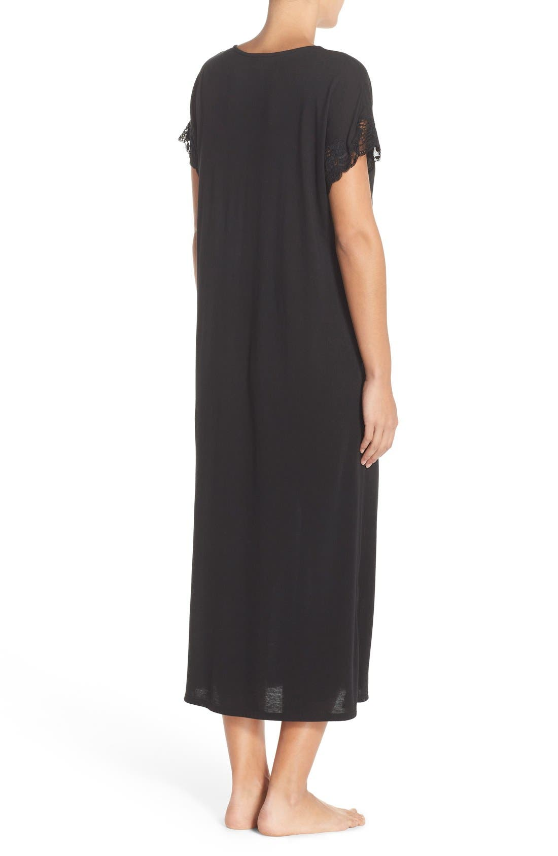 'Zen' Short Sleeve Nightgown,                             Alternate thumbnail 14, color,