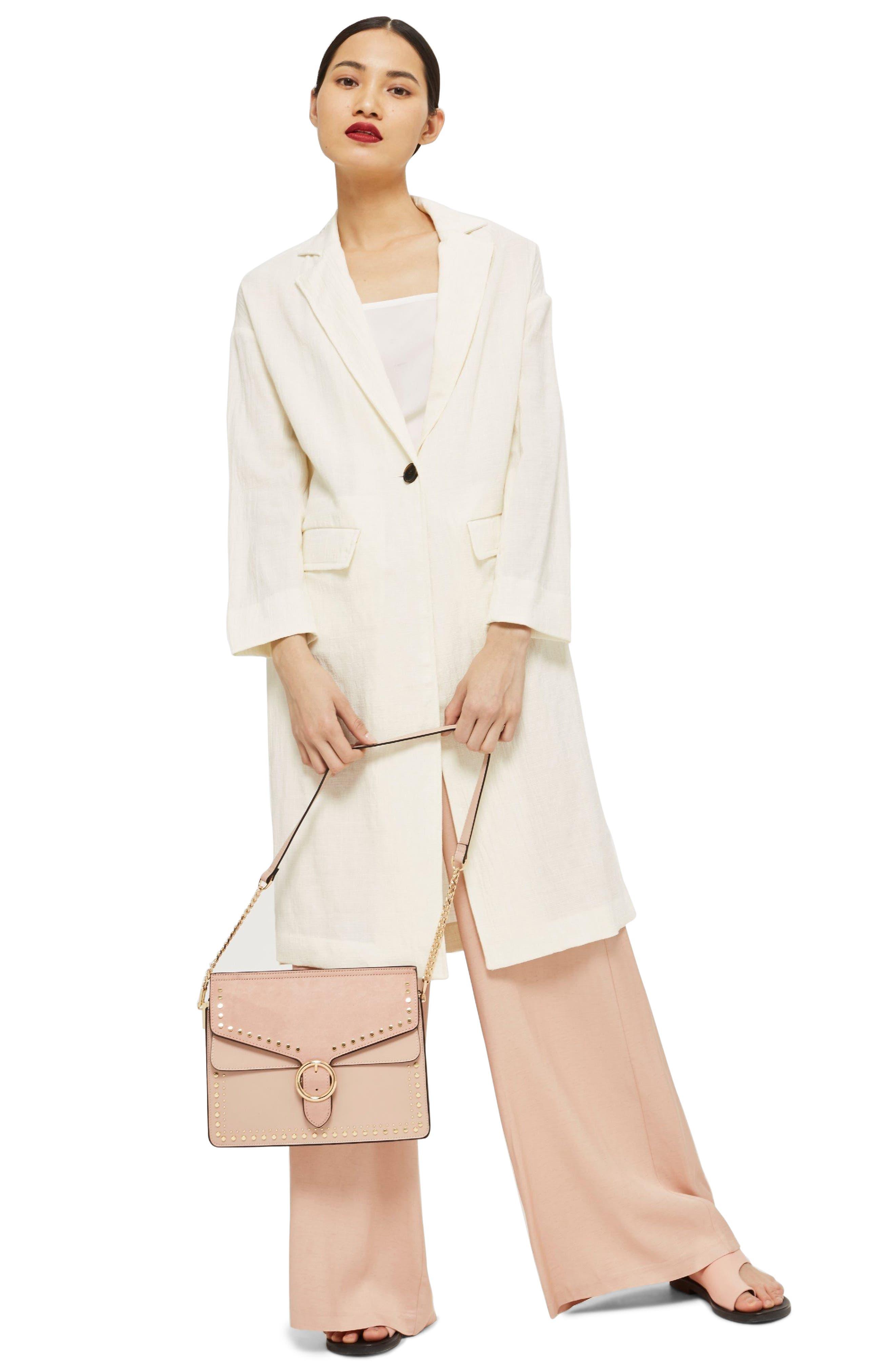 Peony Studded Shoulder Bag,                             Alternate thumbnail 7, color,