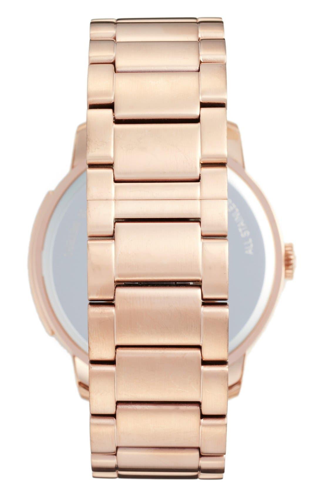 'Bleeker' Round Bracelet Watch, 46mm,                             Alternate thumbnail 8, color,