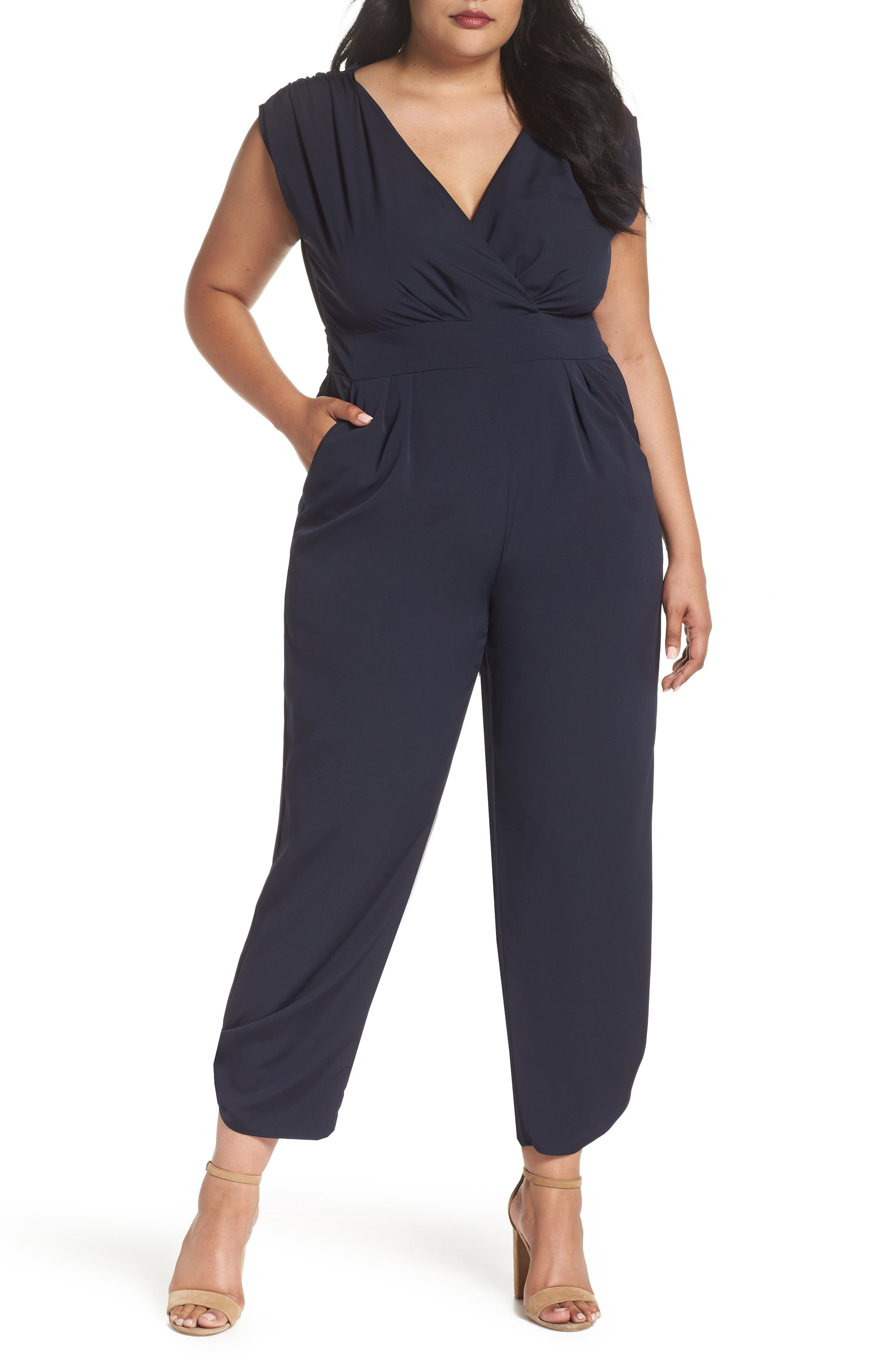 Ruched Ankle Jumpsuit,                             Alternate thumbnail 2, color,                             410