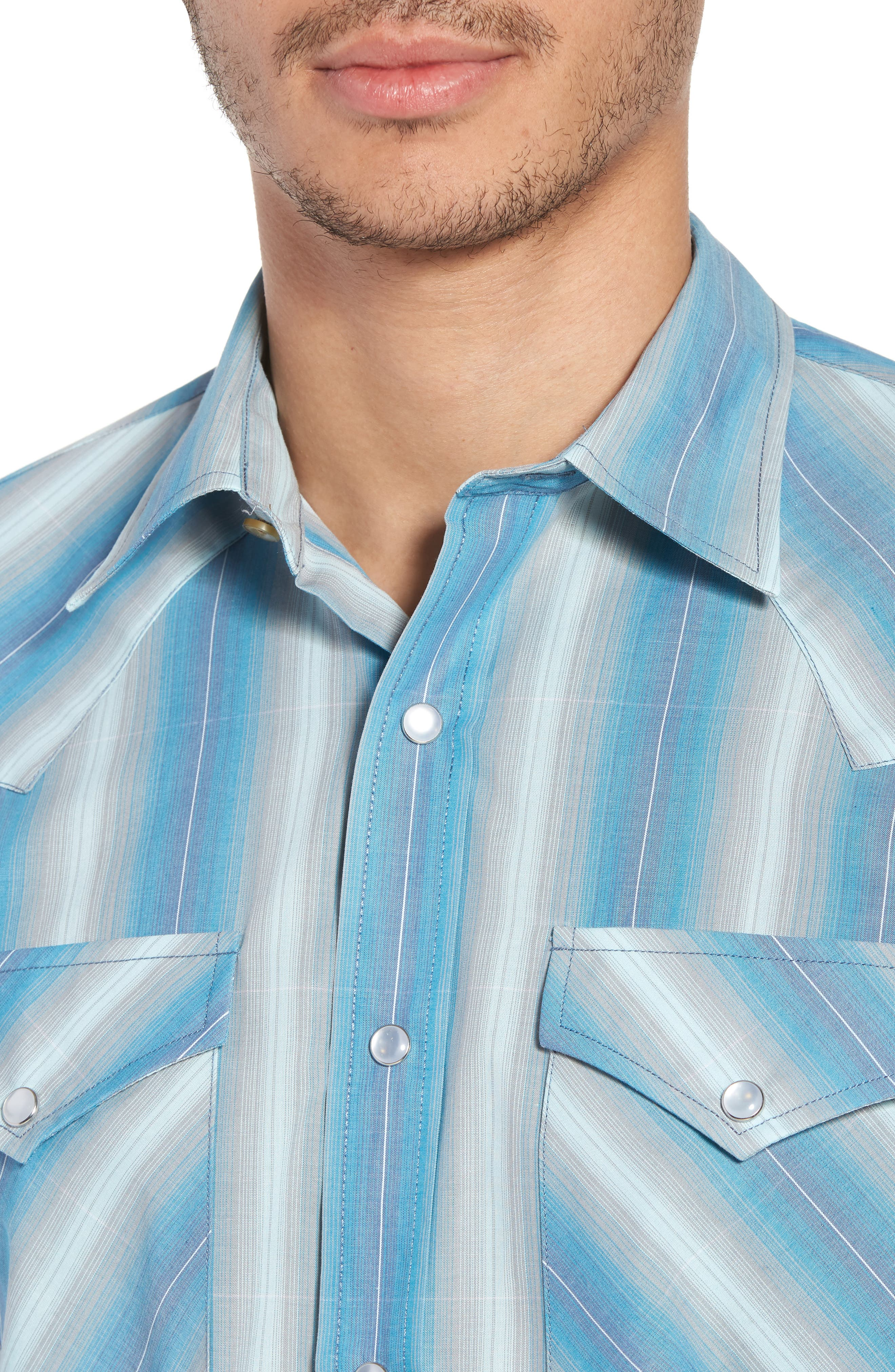 Frontier Regular Fit Plaid Short Sleeve Sport Shirt,                             Alternate thumbnail 8, color,